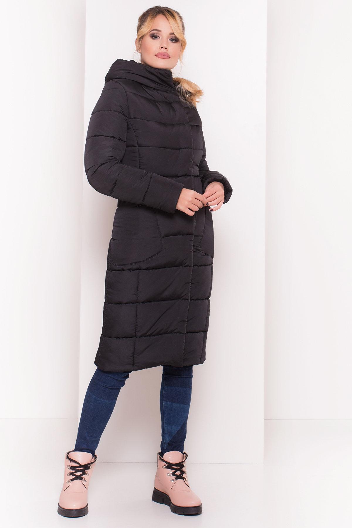 Пуховик-пальто с поясом Жако 5540 АРТ. 37335 Цвет: Черный - фото 4, интернет магазин tm-modus.ru