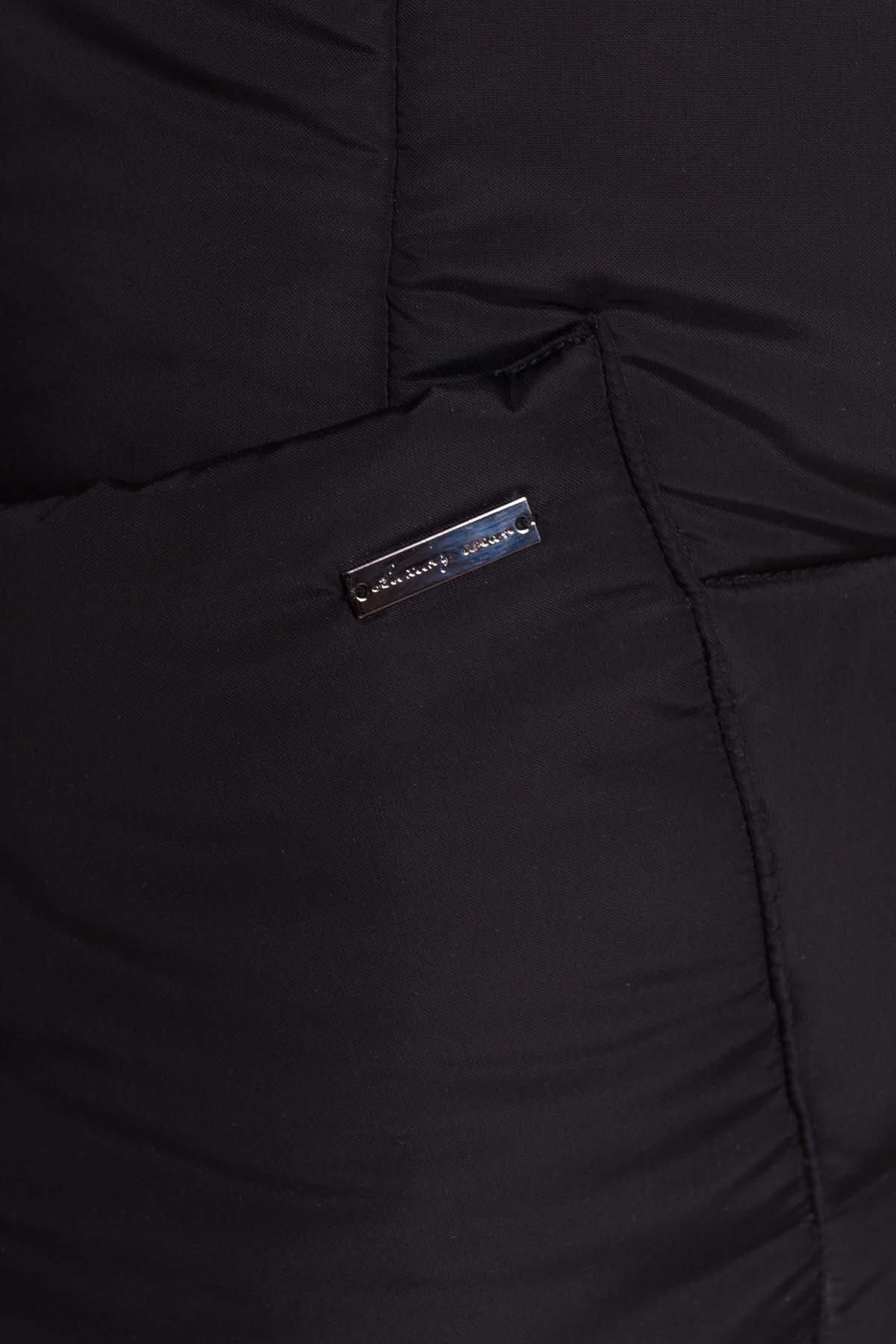 Пуховик-пальто с поясом Жако 5540 АРТ. 37335 Цвет: Черный - фото 6, интернет магазин tm-modus.ru