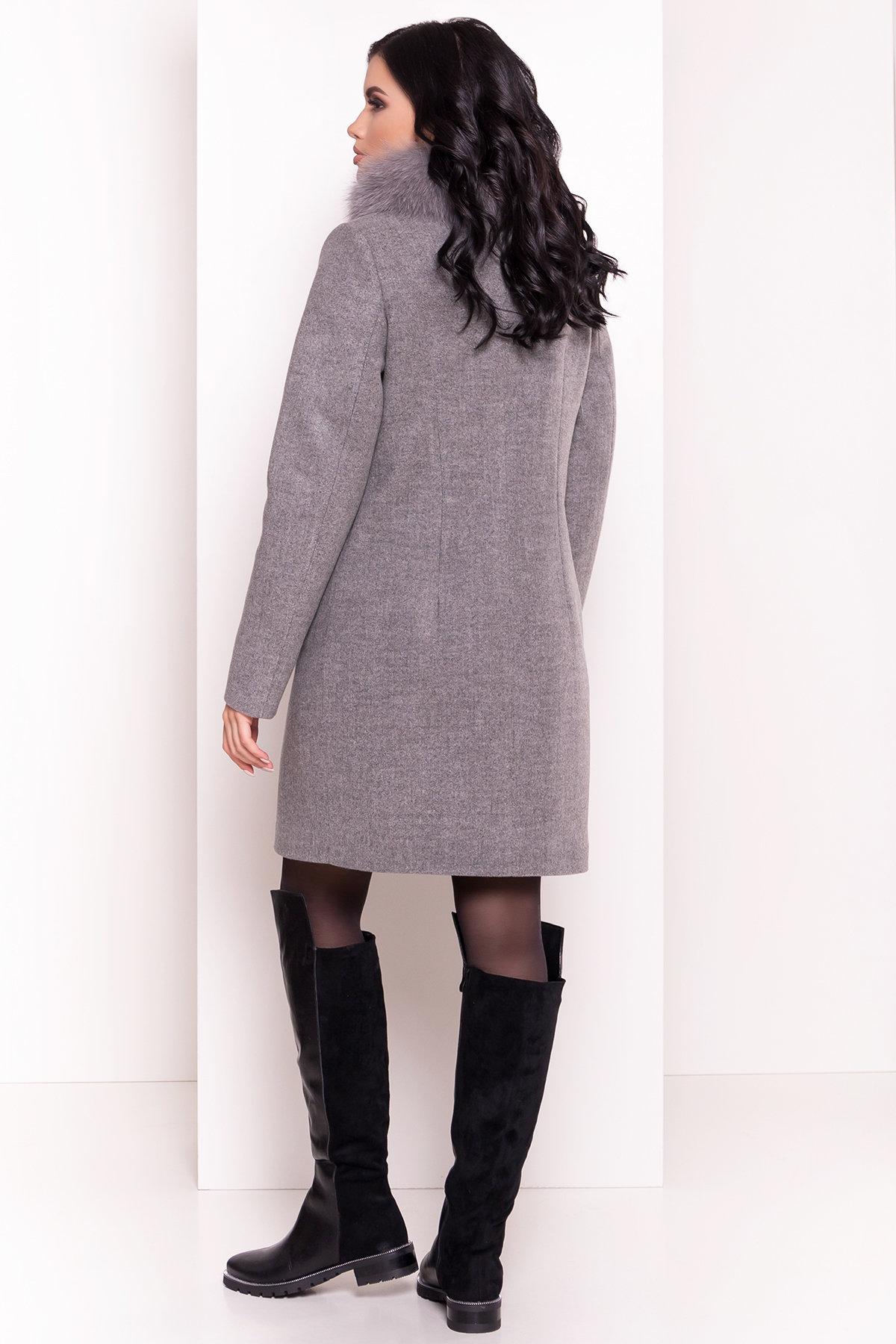 Пальто зима Фортуна 3832 Цвет: Серый 18