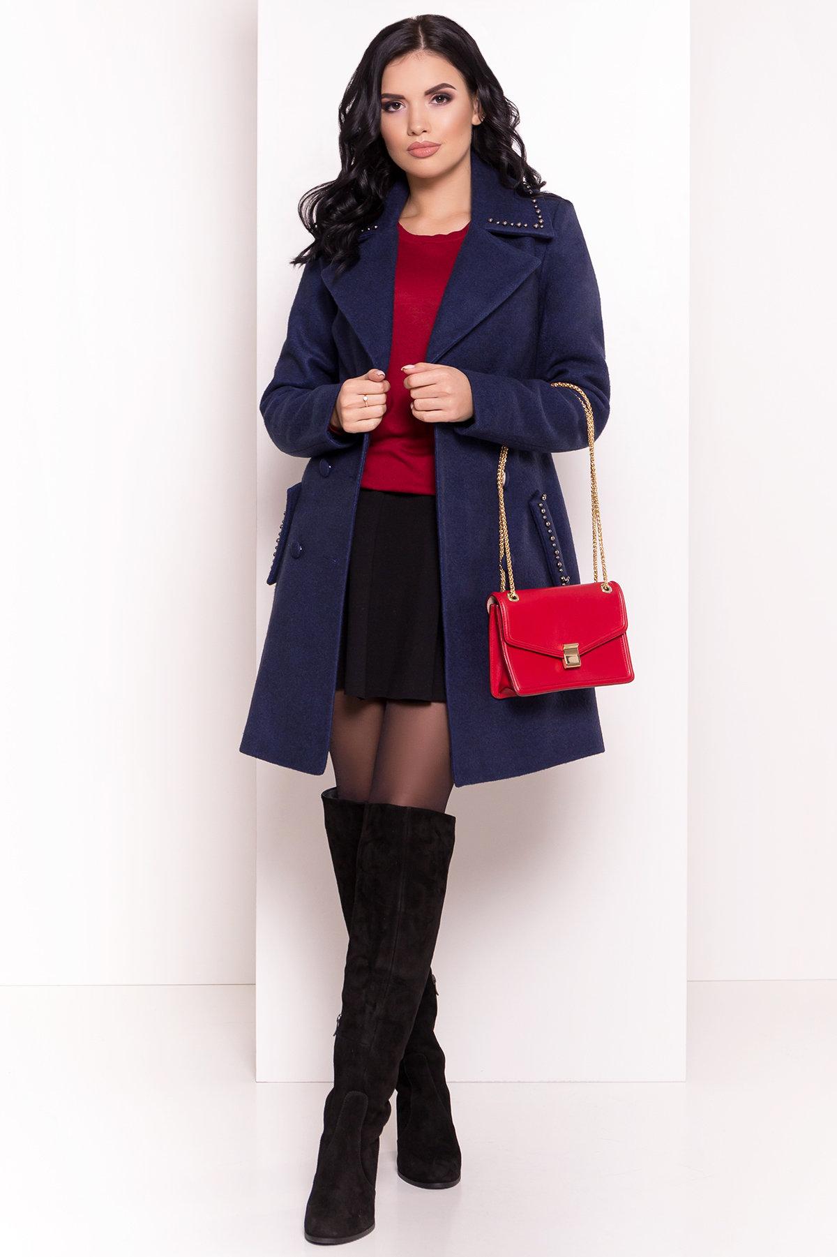Пальто Кармен 5416 АРТ. 36777 Цвет: Темно-синий 17 - фото 3, интернет магазин tm-modus.ru