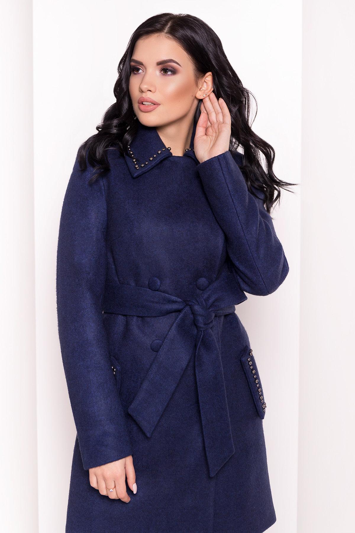 Пальто Кармен 5416 АРТ. 36777 Цвет: Темно-синий 17 - фото 5, интернет магазин tm-modus.ru
