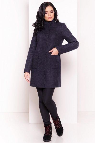 Пальто зима с хомутом Мелини 5644 Цвет: Т.синий 6