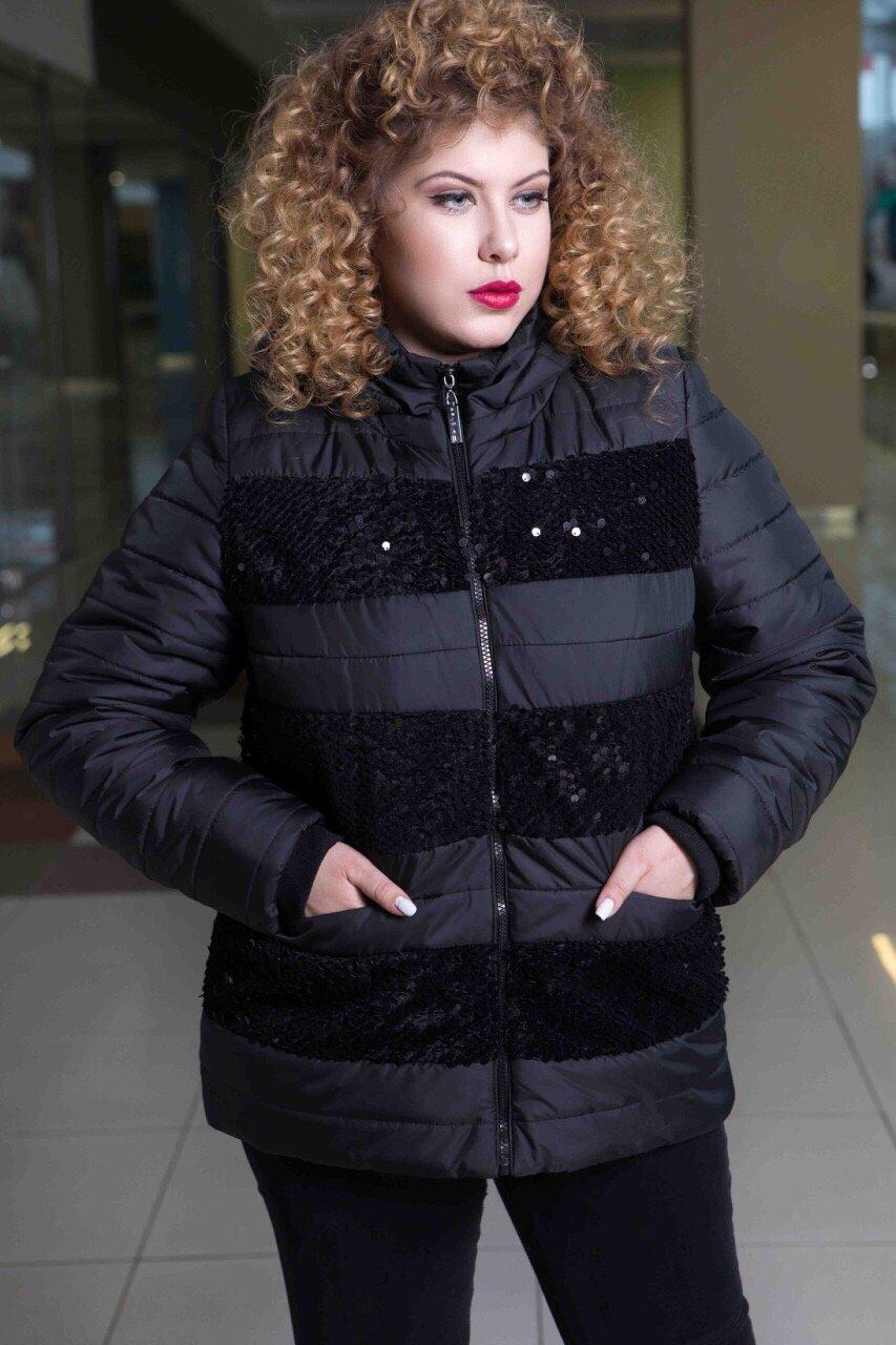 Зимняя куртка 607-5948 Цвет  Черный. РОЗДРІБНА ЦІНА  97dca908e830d