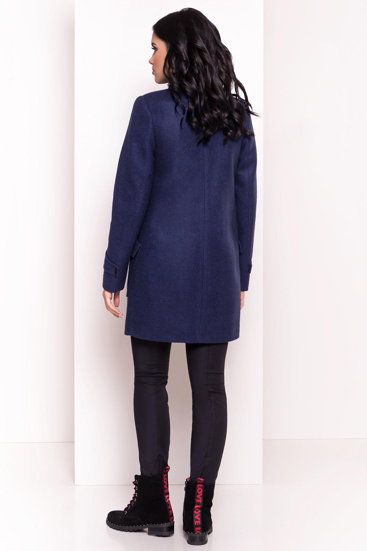 Демисезонное пальто с воротником стойка Эста 5417 АРТ. 36787 Цвет: Темно-синий 17 - фото 3, интернет магазин tm-modus.ru