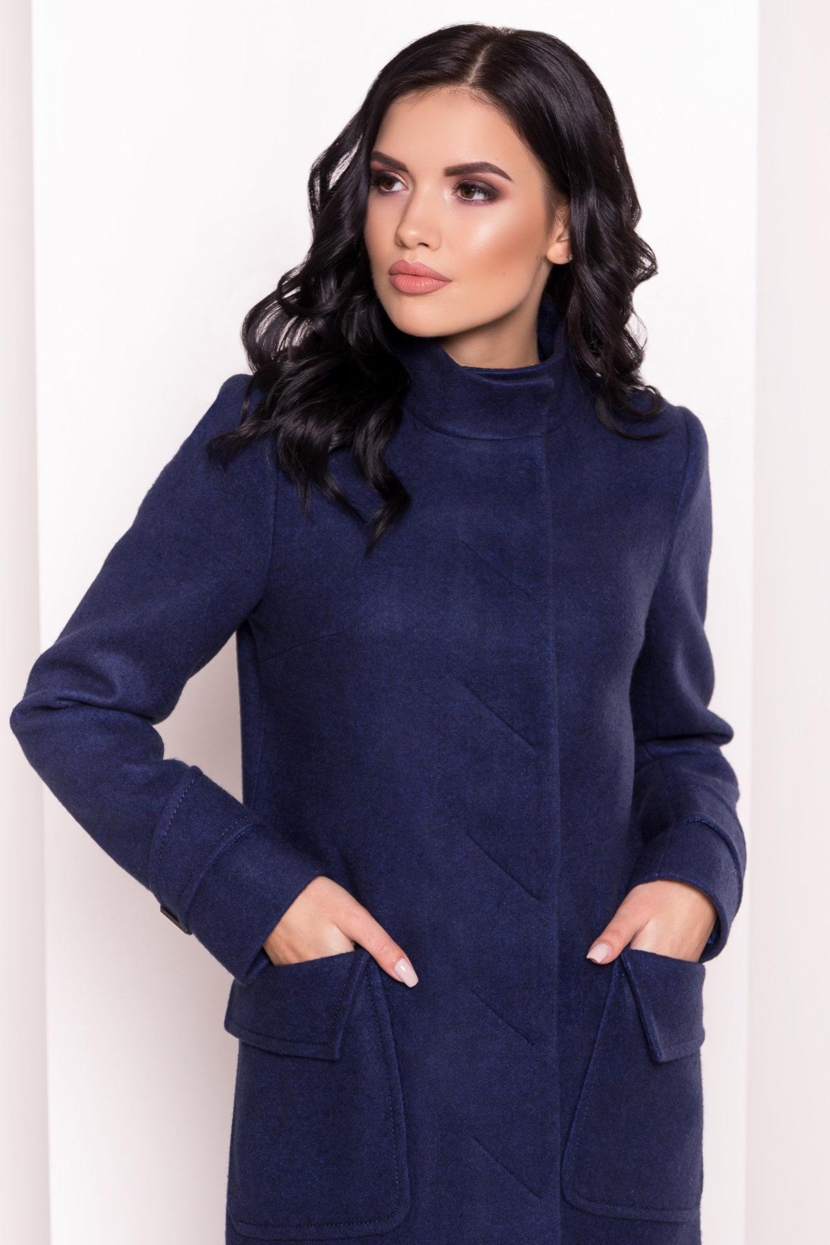 Демисезонное пальто с воротником стойка Эста 5417 АРТ. 36787 Цвет: Темно-синий 17 - фото 5, интернет магазин tm-modus.ru