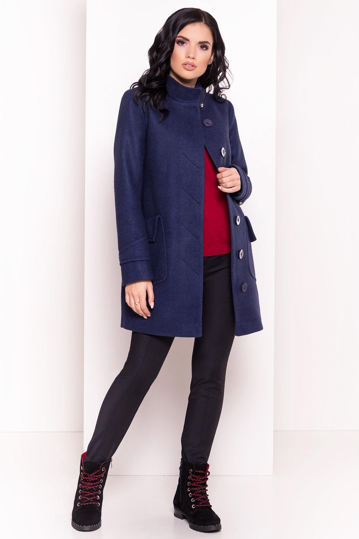Демисезонное пальто с воротником стойка Эста 5417 АРТ. 36787 Цвет: Темно-синий 17 - фото 4, интернет магазин tm-modus.ru
