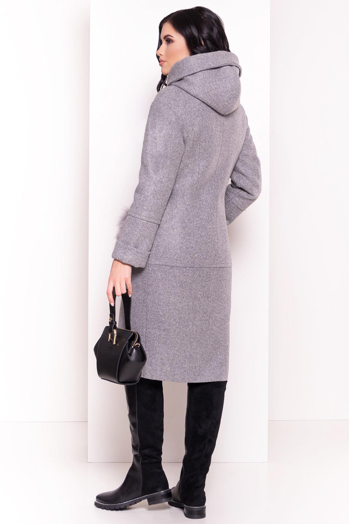 Пальто зима Анита 5762 АРТ. 38116 Цвет: Серый Светлый 77 - фото 2, интернет магазин tm-modus.ru