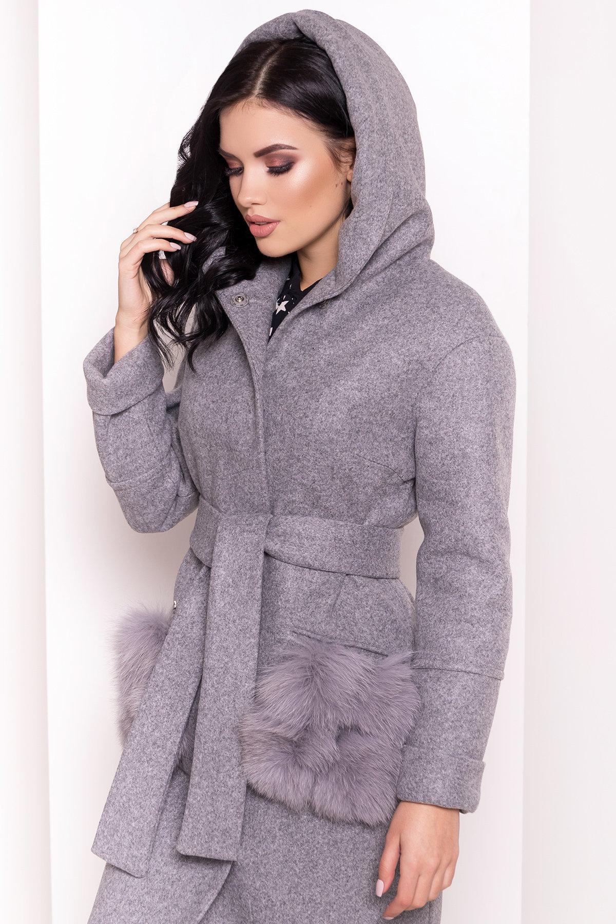 Пальто зима Анита 5762 АРТ. 38116 Цвет: Серый Светлый 77 - фото 5, интернет магазин tm-modus.ru