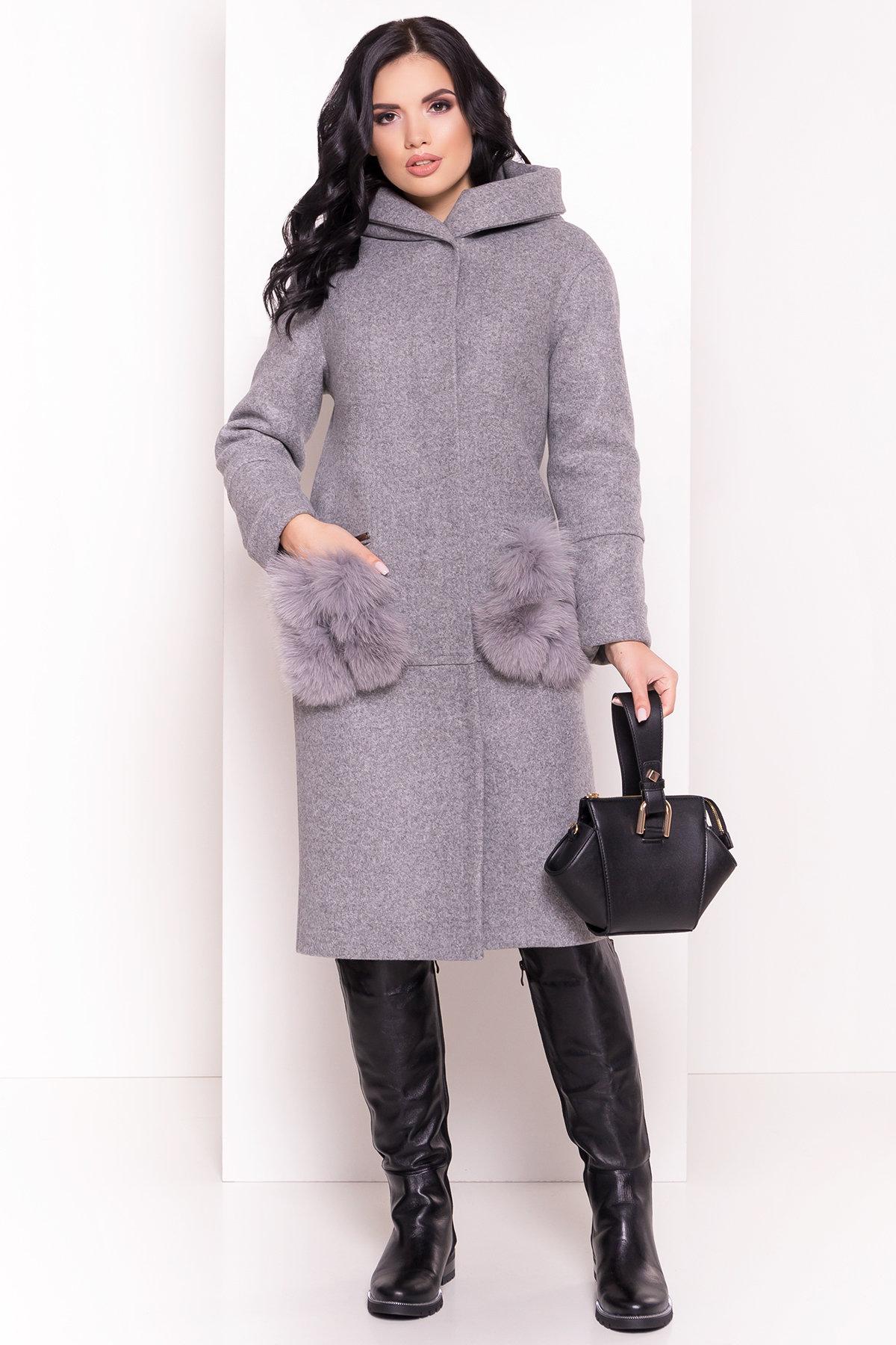 Пальто зима Анита 5762 АРТ. 38116 Цвет: Серый Светлый 77 - фото 4, интернет магазин tm-modus.ru