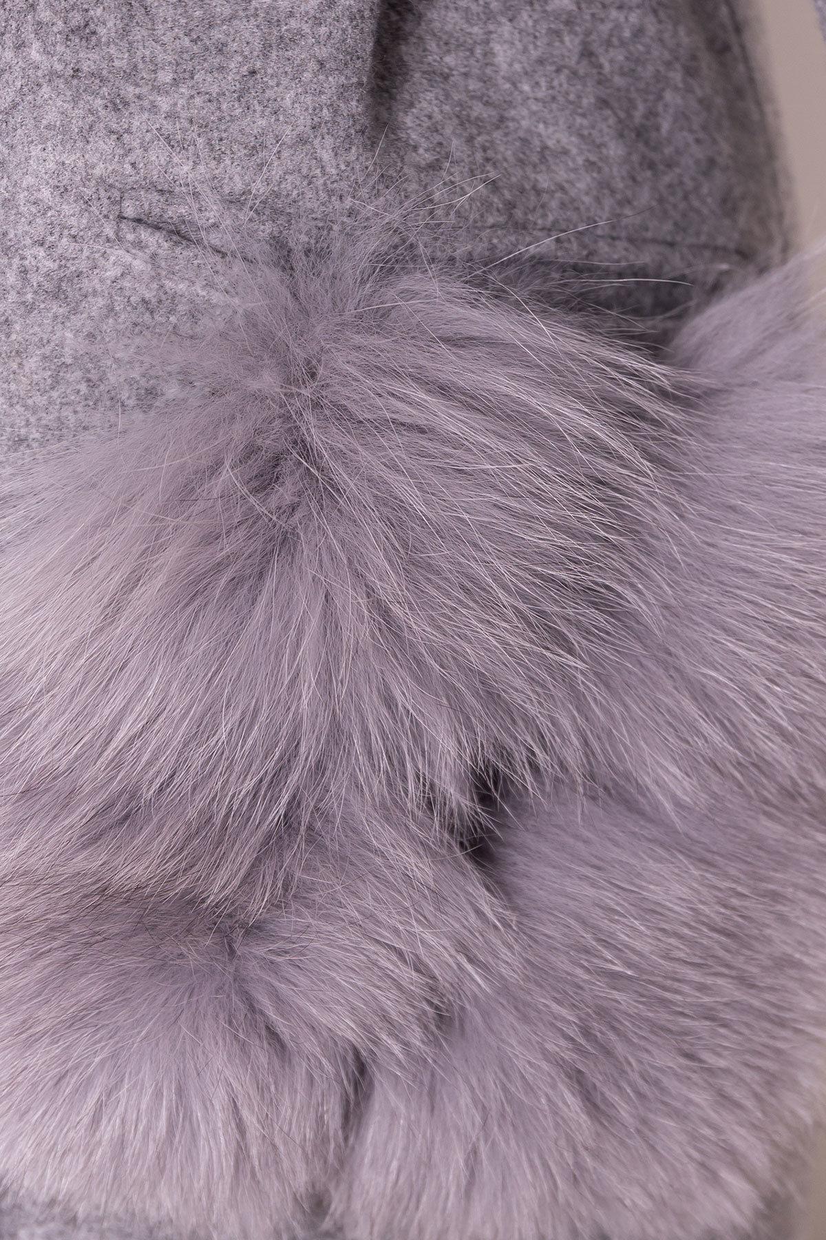 Пальто зима Анита 5762 АРТ. 38116 Цвет: Серый Светлый 77 - фото 6, интернет магазин tm-modus.ru