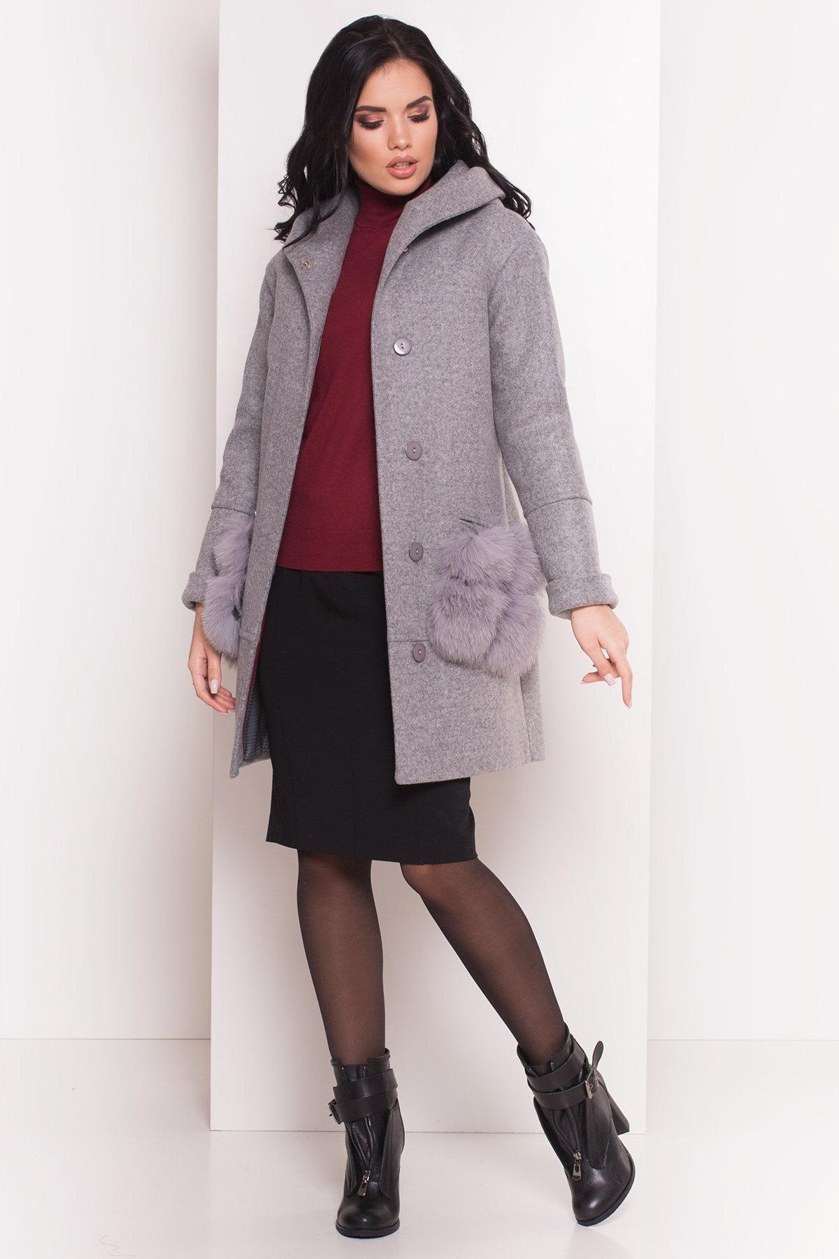 Пальто зима Анита 5752 Цвет: Серый Светлый 77