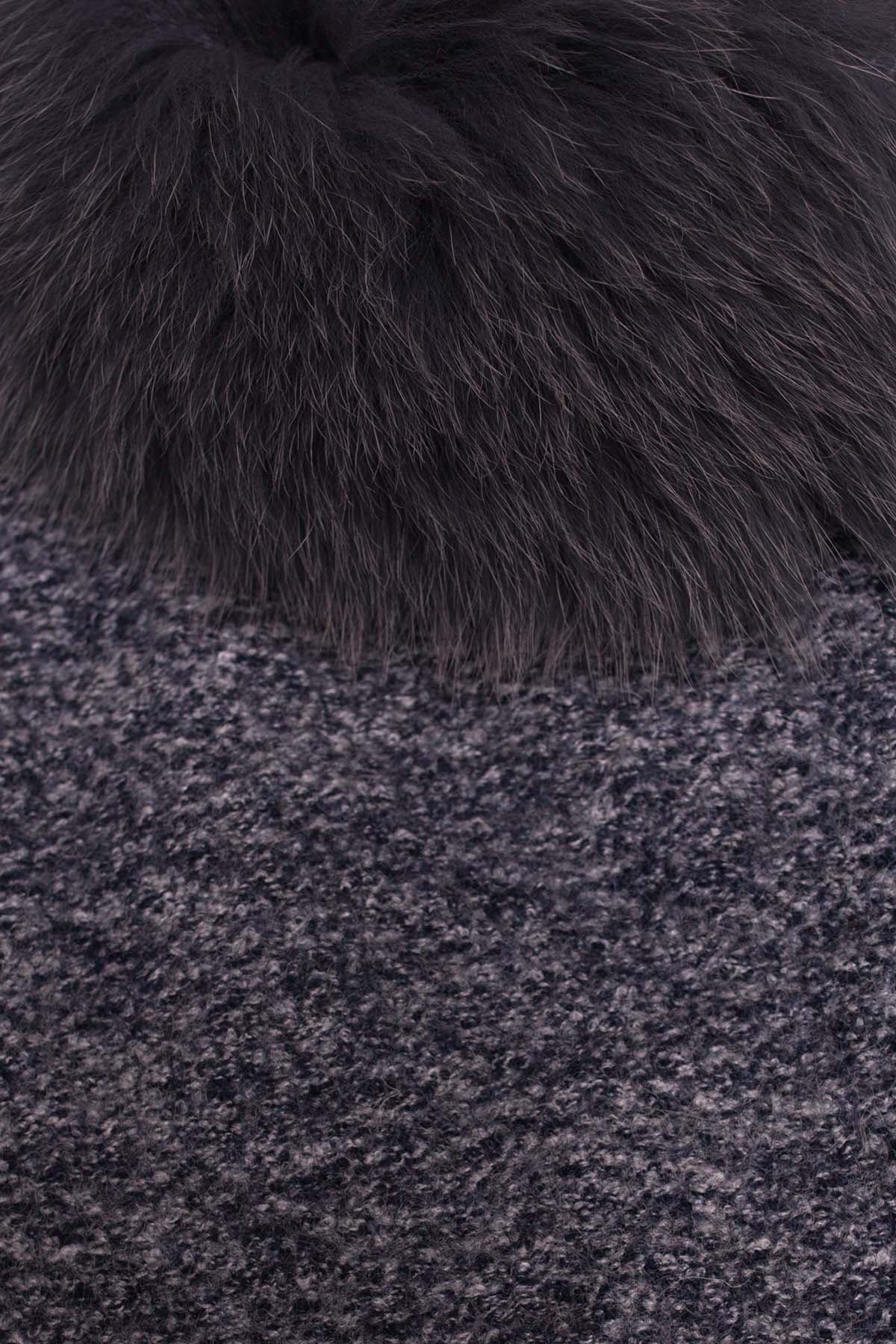 Пальто зима Габи 3602 Цвет: Серый темный LW-22