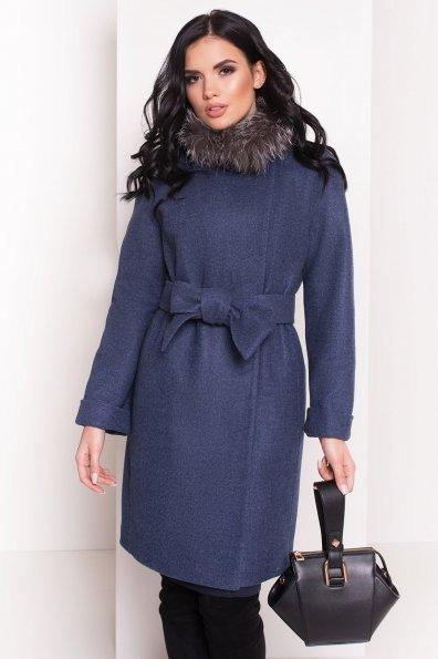 Пальто зима Приора 5669 Цвет: Джинс 57