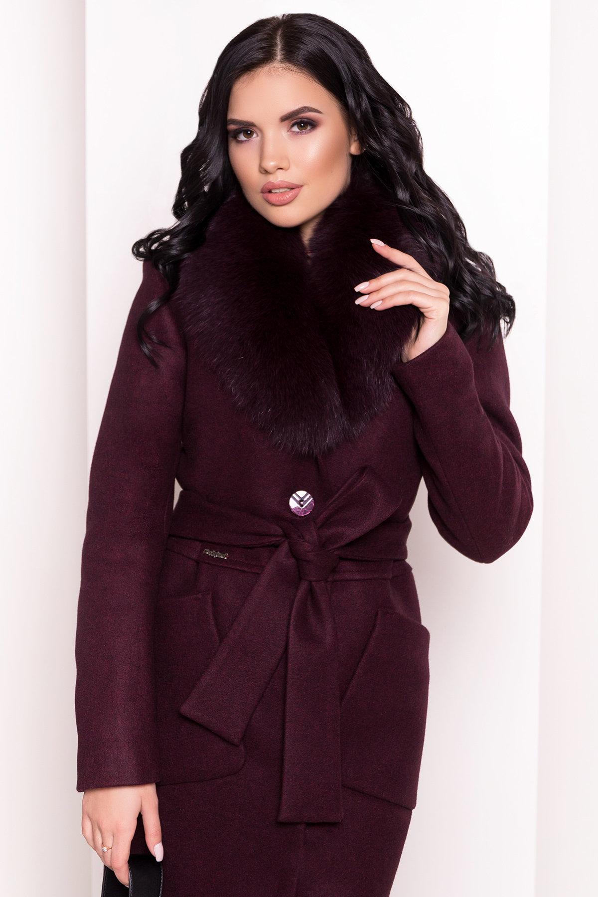 Пальто зима Габриэлла 5696 Цвет: Марсала 75