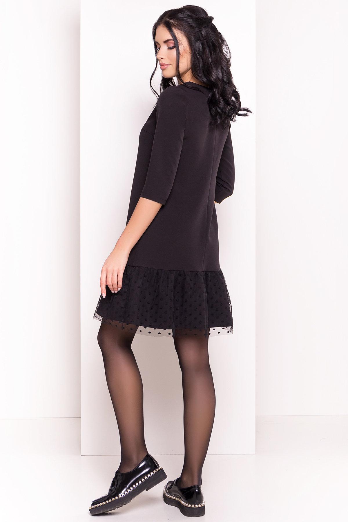 Платье Медисон 5950 АРТ. 40482 Цвет: Черный - фото 2, интернет магазин tm-modus.ru
