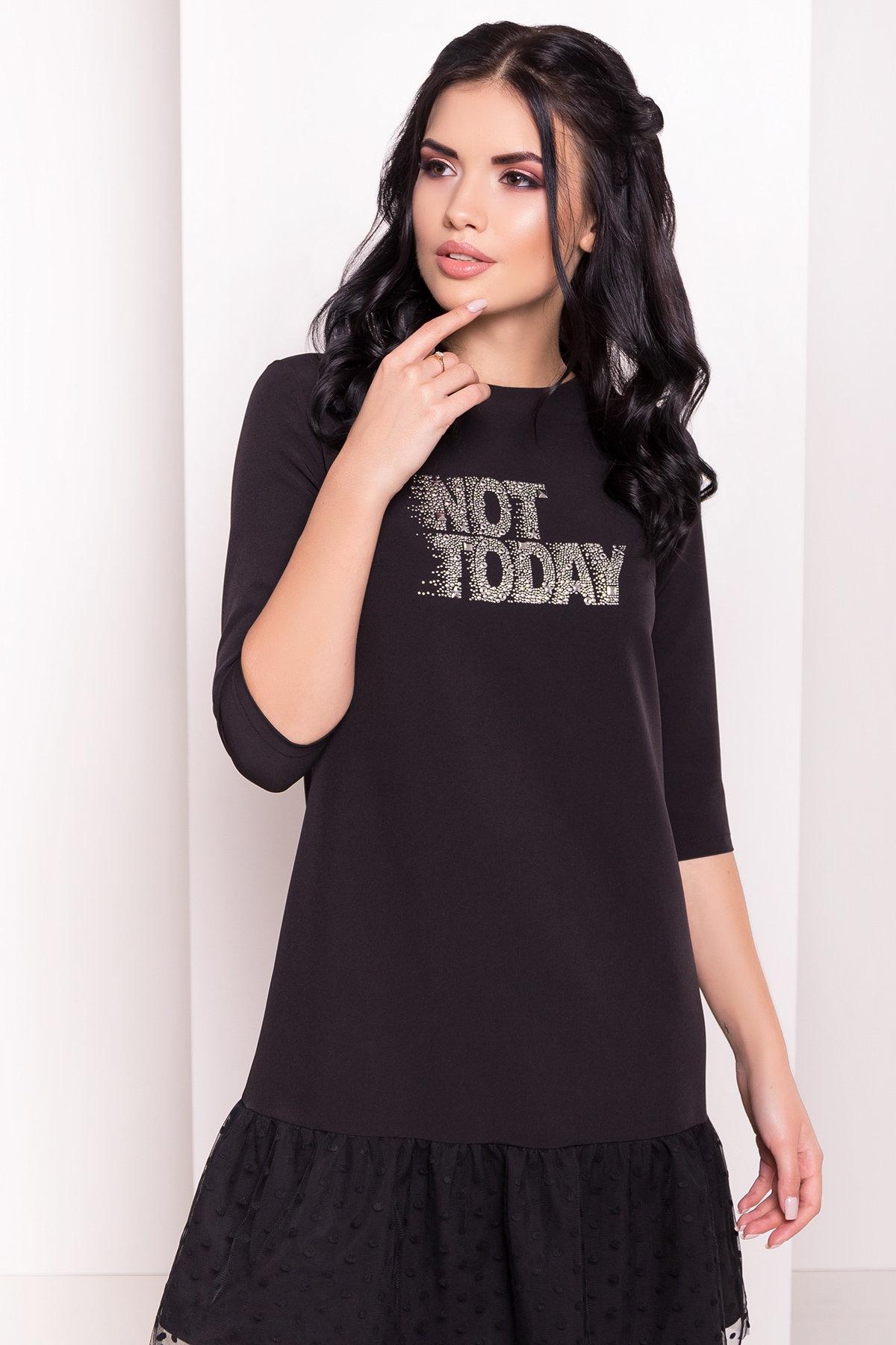Платье Медисон 5950 АРТ. 40482 Цвет: Черный - фото 3, интернет магазин tm-modus.ru