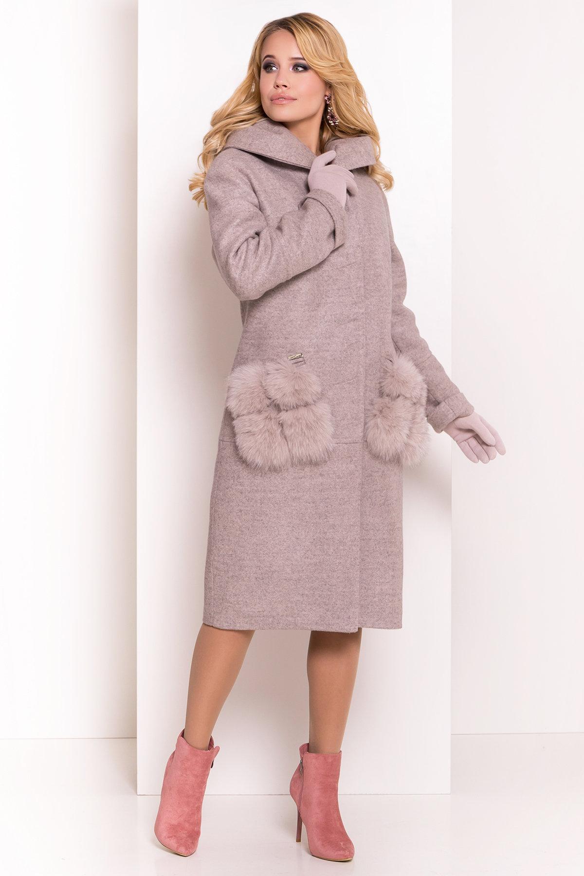 Пальто зима  Анита 4120 АРТ. 38129 Цвет: Бежевый 31 - фото 4, интернет магазин tm-modus.ru