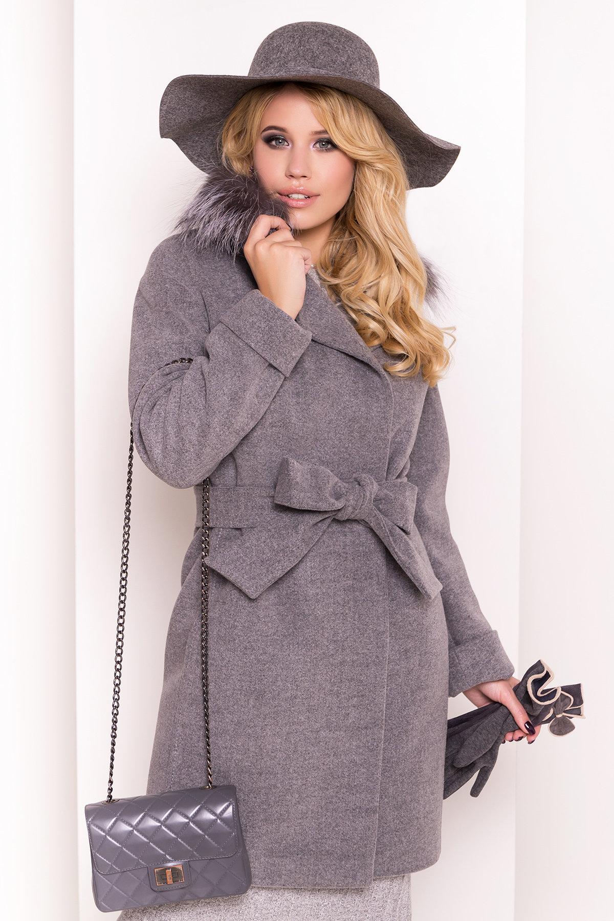 Пальто зима Приора 5669 Цвет: Серый 18