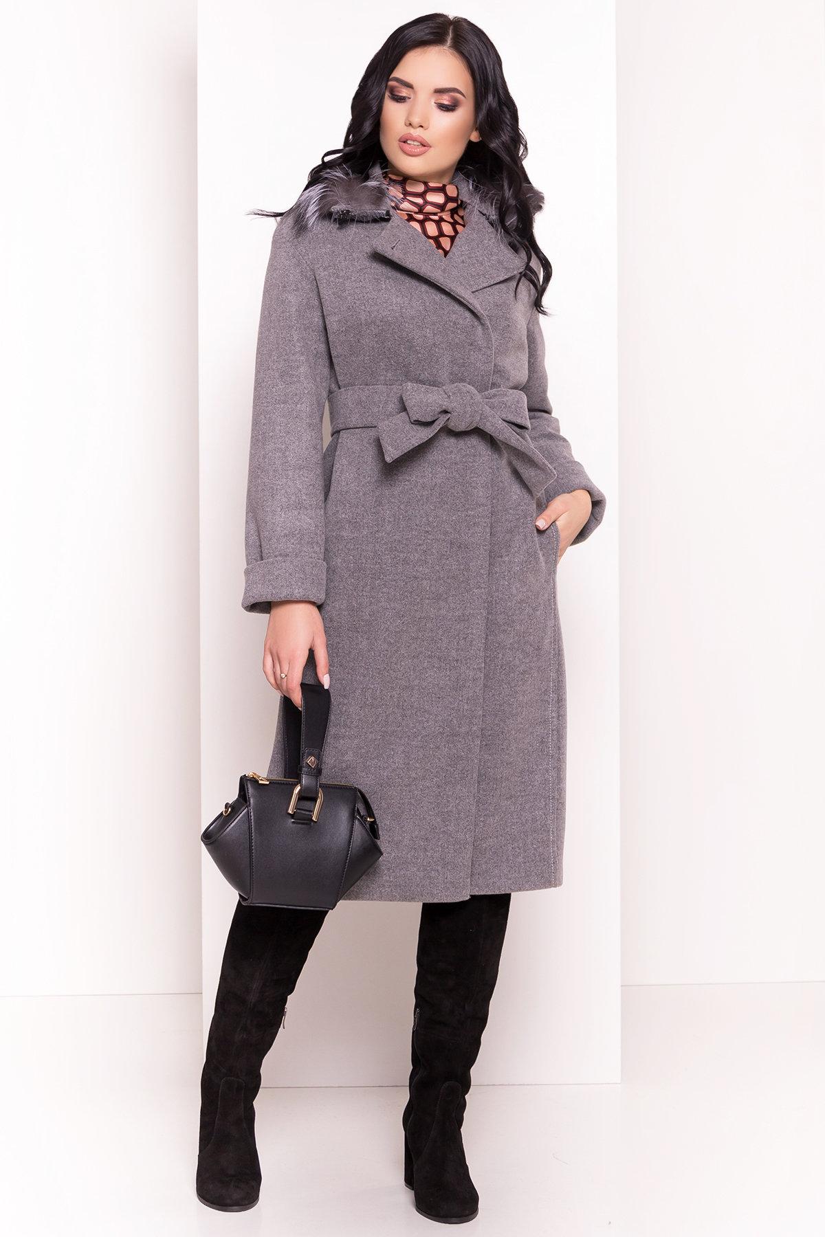 Пальто зимнее от производителя Modus Зимнее приталенное пальто с поясом Богема 5706
