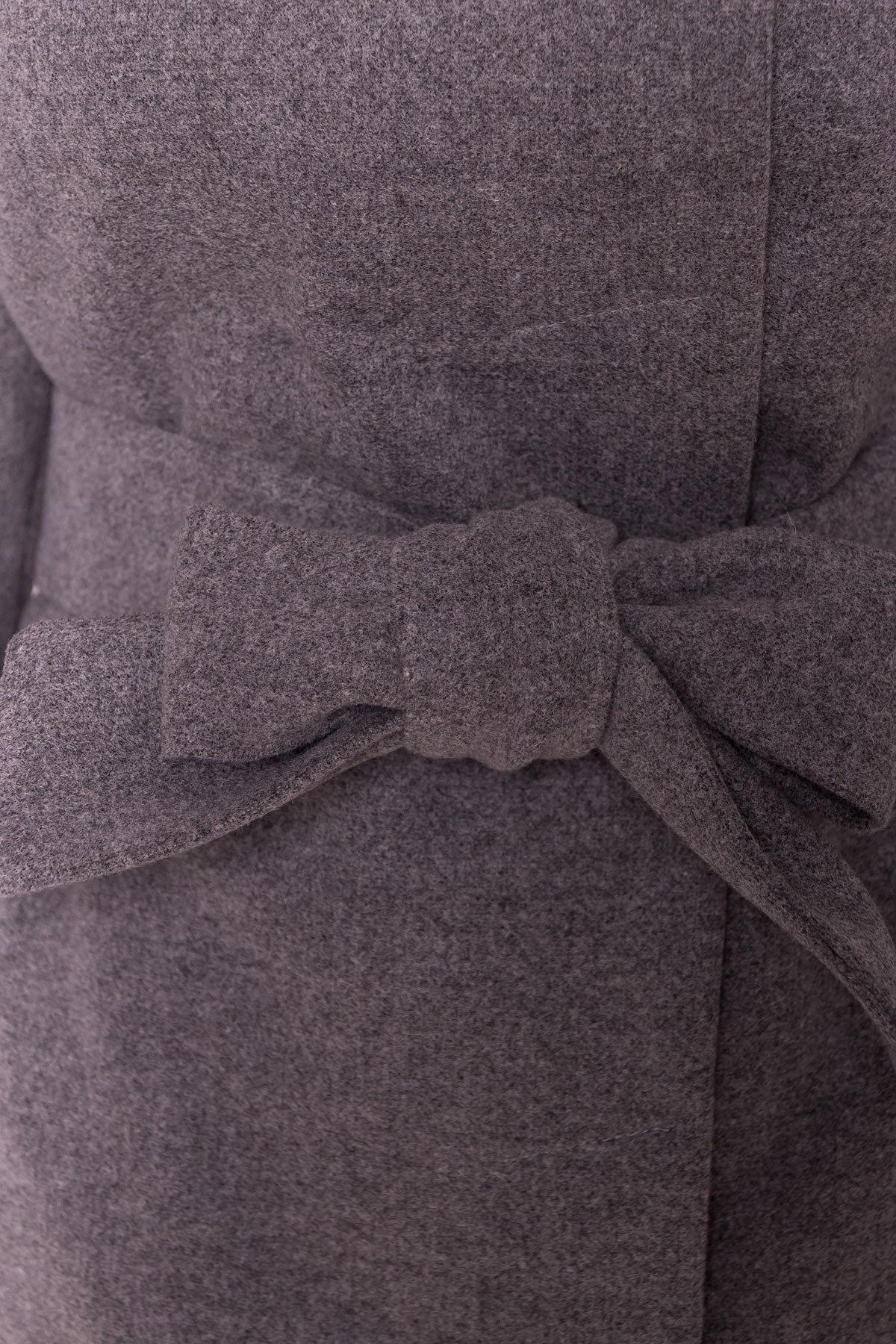 Зимнее приталенное пальто с поясом Богема 5706 АРТ. 38000 Цвет: Серый 18 - фото 6, интернет магазин tm-modus.ru