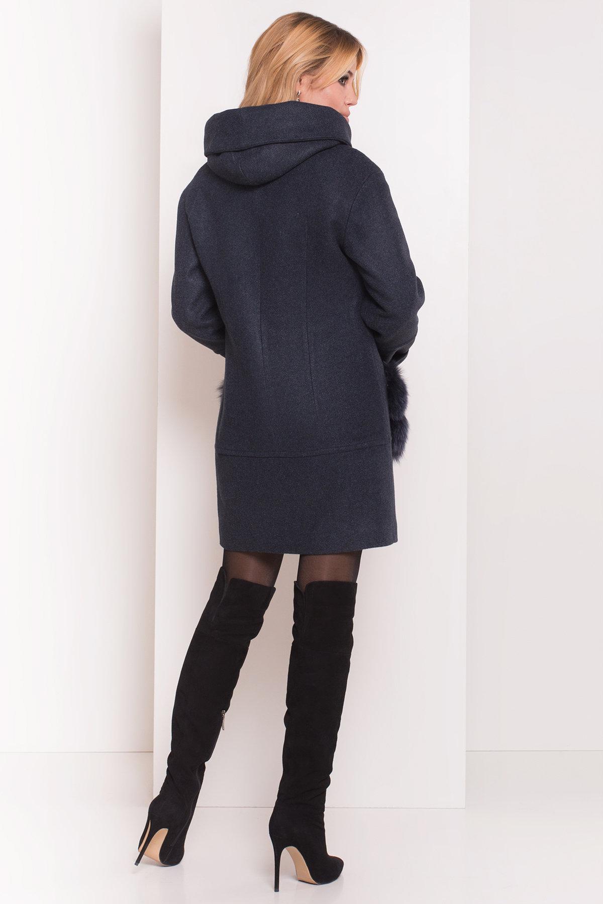 Пальто зима Анита 5752 АРТ. 38091 Цвет: Синий/Зеленый 72 - фото 2, интернет магазин tm-modus.ru
