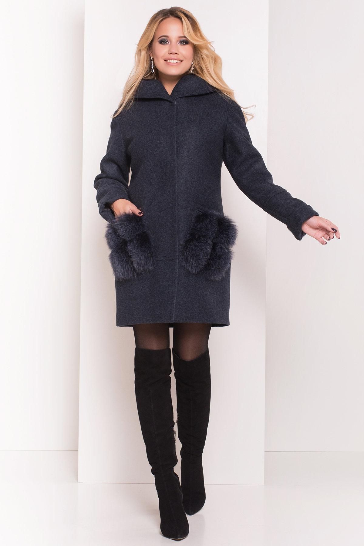 Пальто зима Анита 5752 АРТ. 38091 Цвет: Синий/Зеленый 72 - фото 4, интернет магазин tm-modus.ru