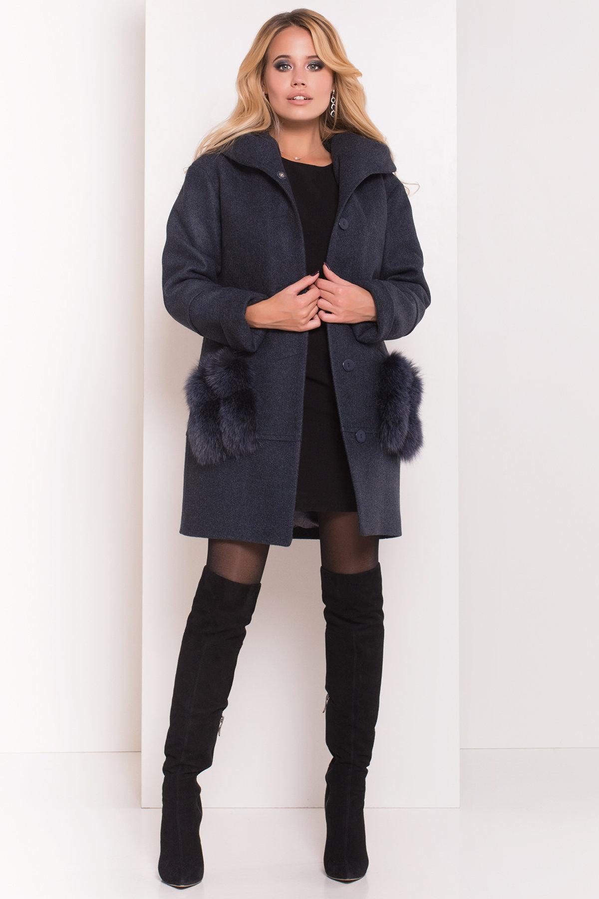 Пальто зима Анита 5752 АРТ. 38091 Цвет: Синий/Зеленый 72 - фото 3, интернет магазин tm-modus.ru