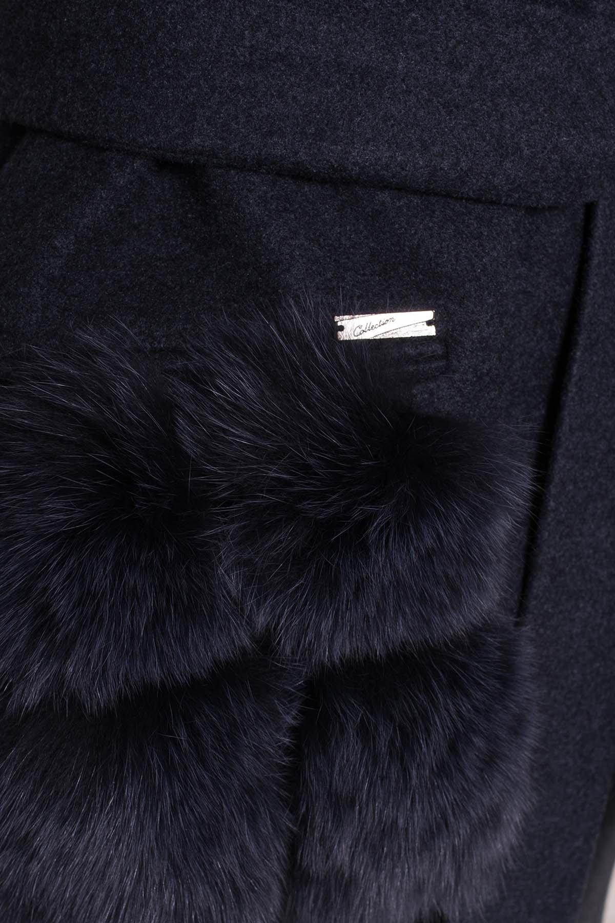 Пальто зима Анита 5752 АРТ. 38091 Цвет: Синий/Зеленый 72 - фото 6, интернет магазин tm-modus.ru
