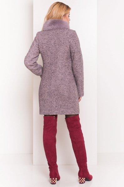 Пальто зима Габи 3602 Цвет: Серо-розовый LW-25