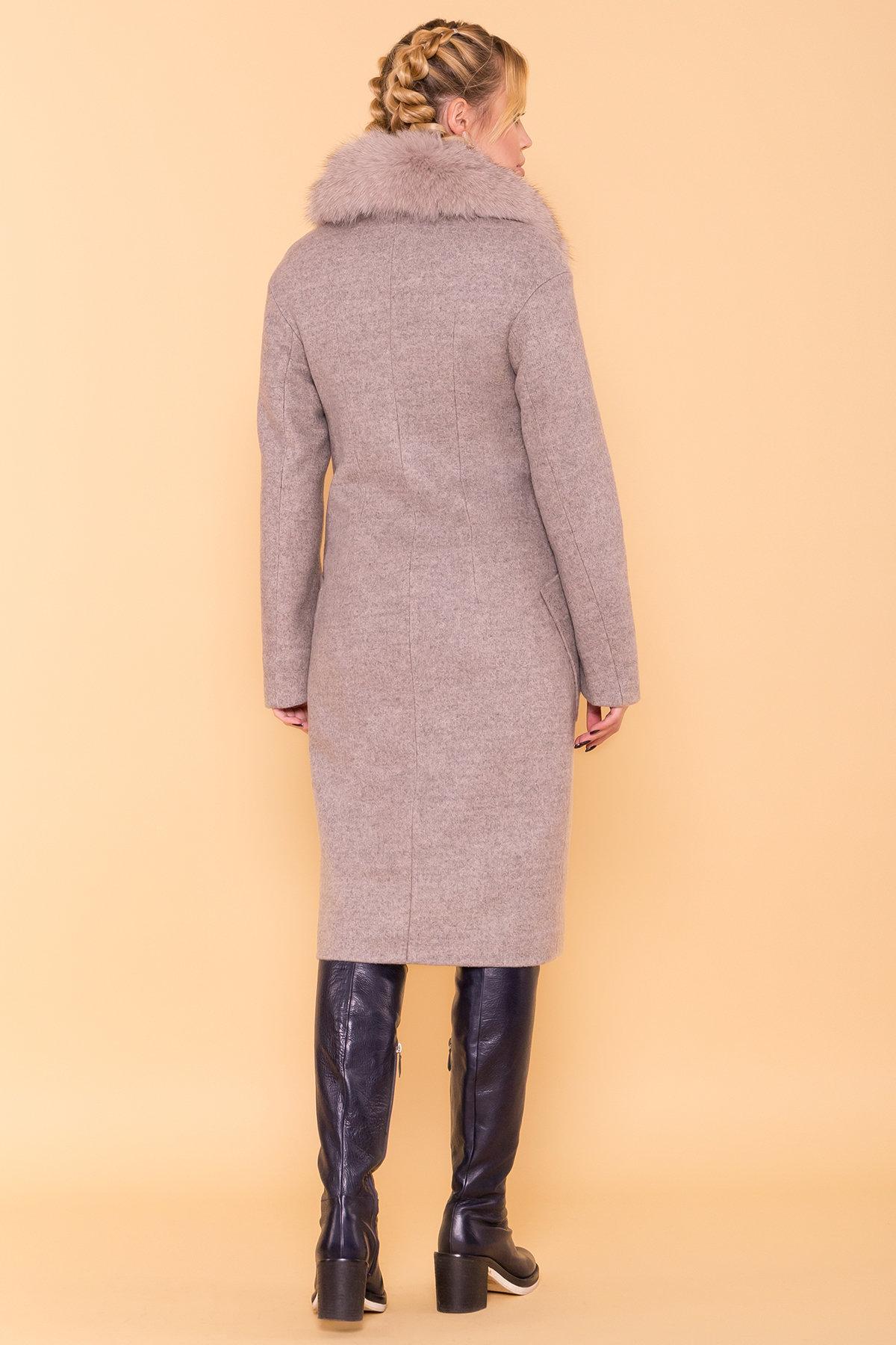 Зимнее пальто с натуральным песцом Анатес лайт 5570 АРТ. 38161 Цвет: Бежевый 31 - фото 2, интернет магазин tm-modus.ru