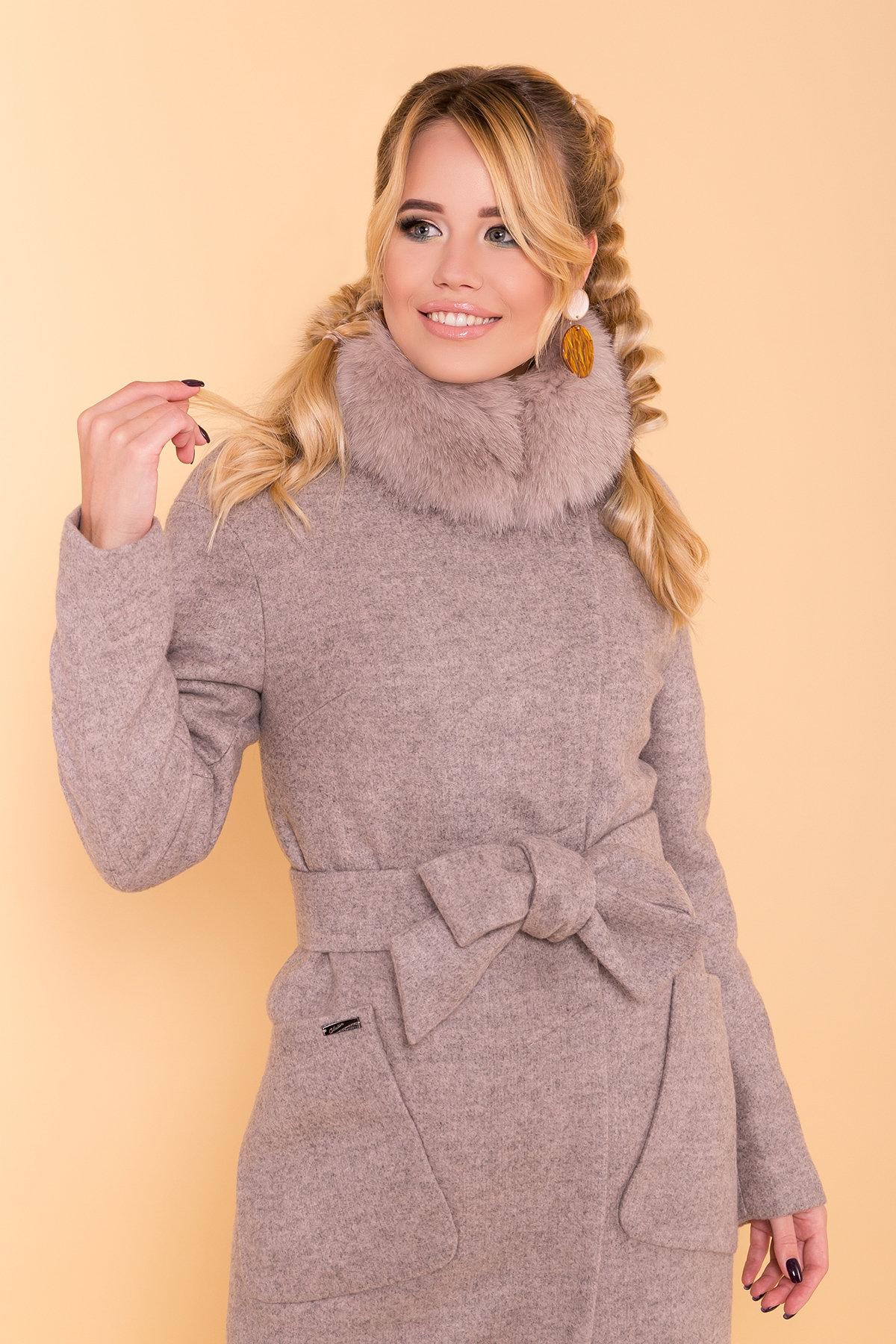 Зимнее пальто с натуральным песцом Анатес лайт 5570 АРТ. 38161 Цвет: Бежевый 31 - фото 5, интернет магазин tm-modus.ru