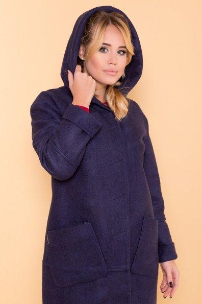 Теплое зимнее пальто Анита 4122 Цвет: Темно-синий 17
