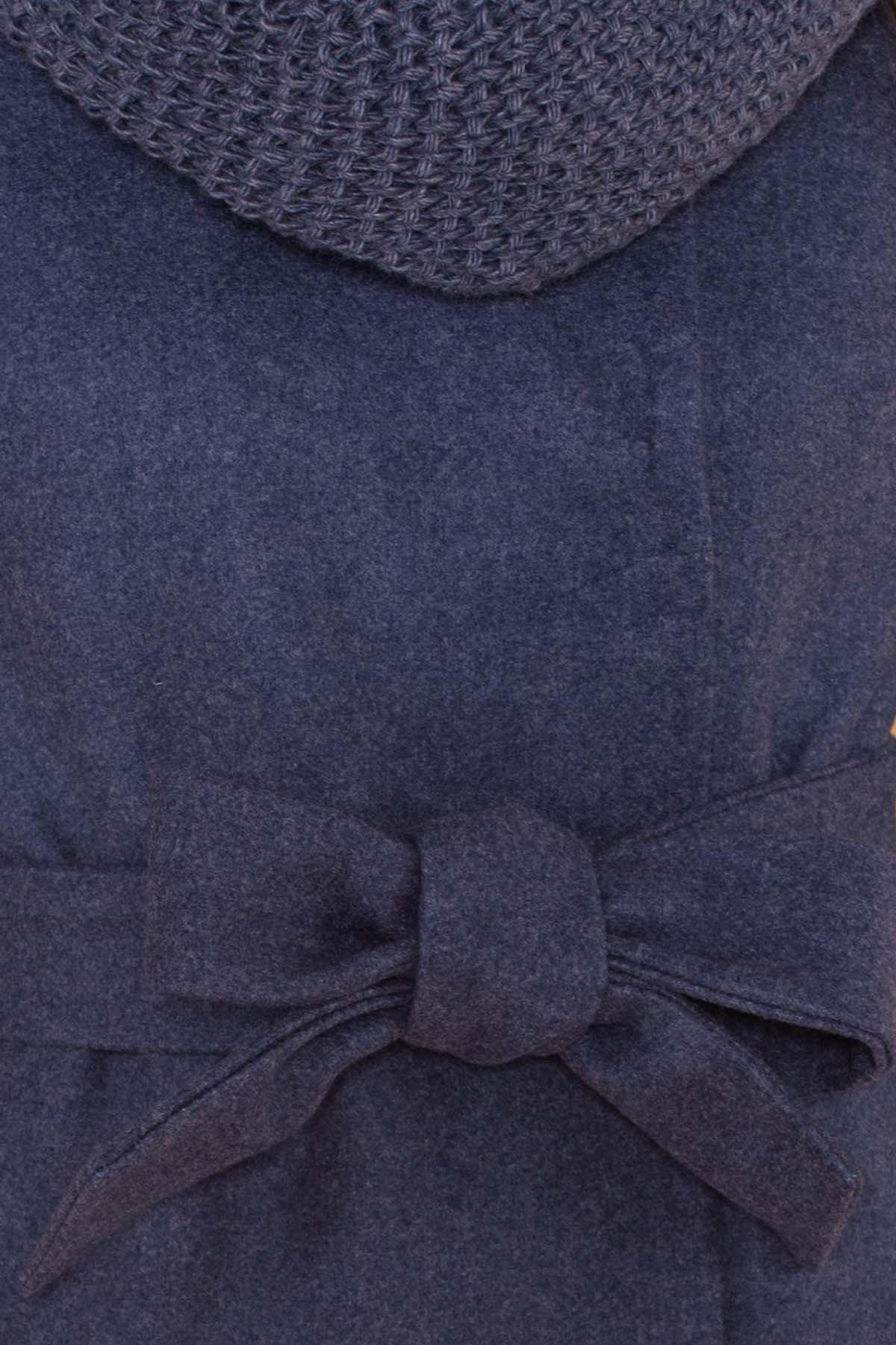 Классическое однобортное пальто зима с отложным воротником Приора 5835 АРТ. 39410 Цвет: Джинс - фото 6, интернет магазин tm-modus.ru