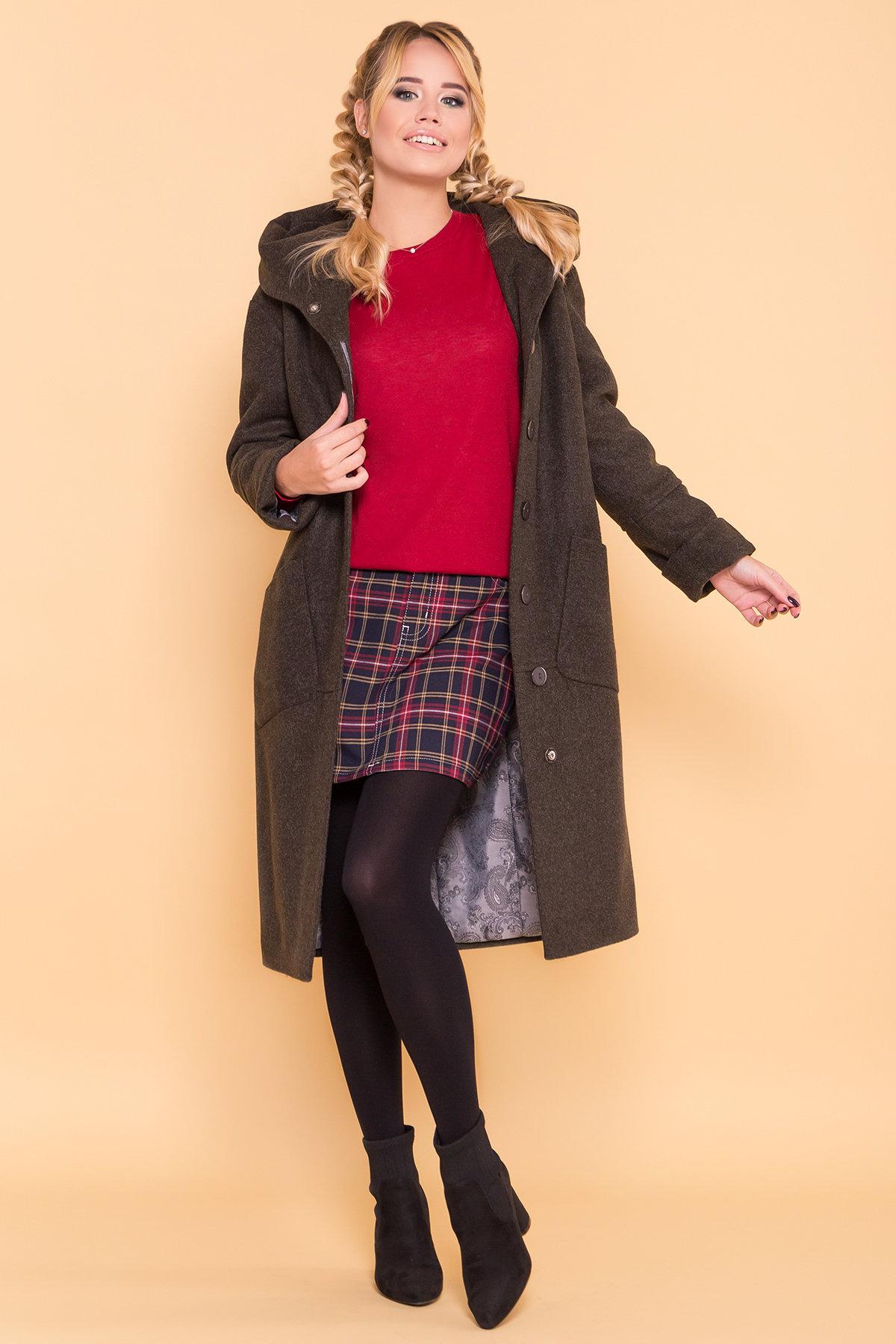 Теплое зимнее пальто Анита 4122 АРТ. 39666 Цвет: Хаки 16 - фото 3, интернет магазин tm-modus.ru