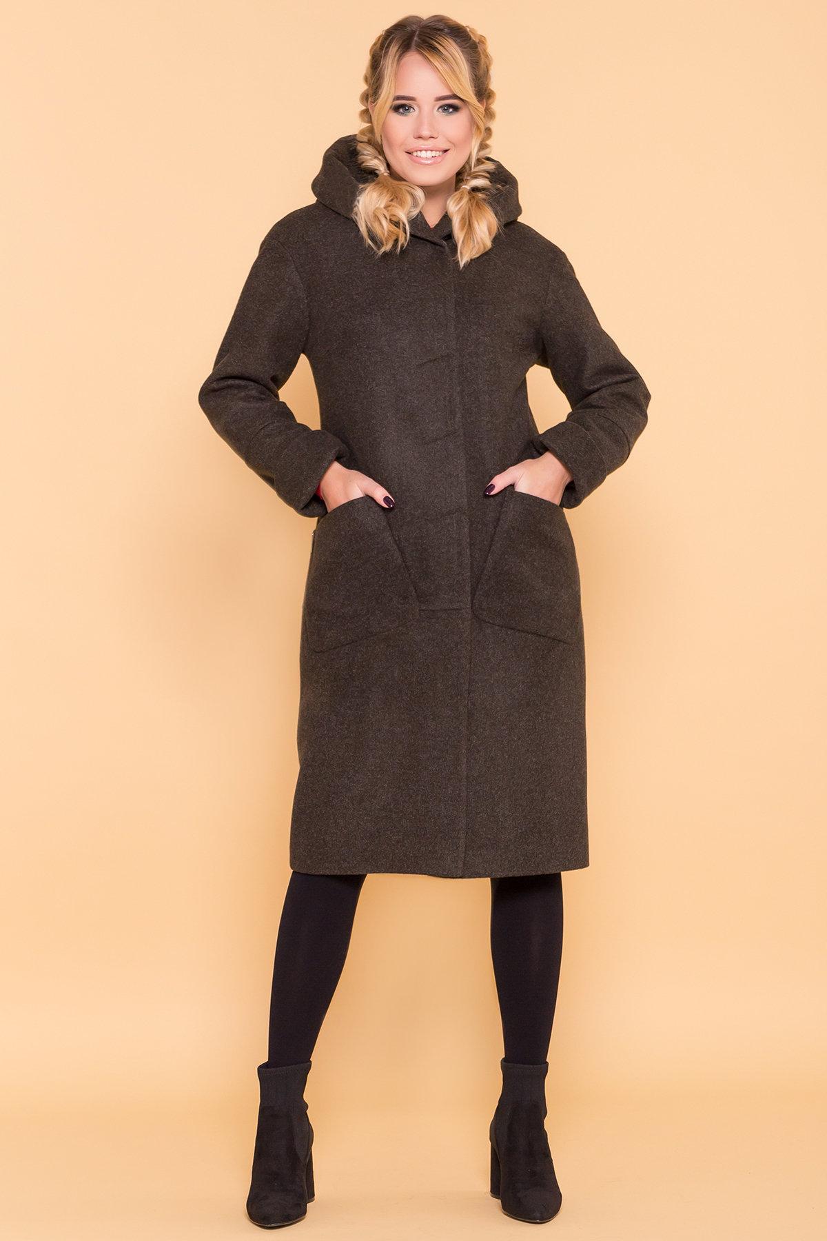Теплое зимнее пальто Анита 4122 АРТ. 39666 Цвет: Хаки 16 - фото 4, интернет магазин tm-modus.ru