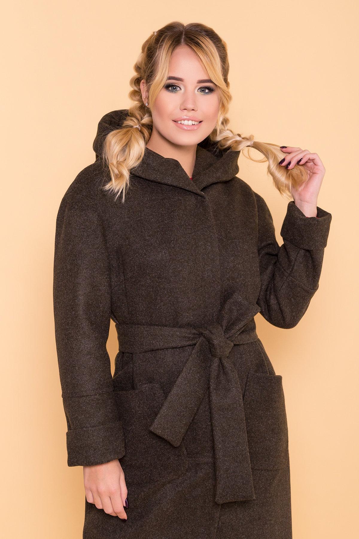 Теплое зимнее пальто Анита 4122 АРТ. 39666 Цвет: Хаки 16 - фото 5, интернет магазин tm-modus.ru
