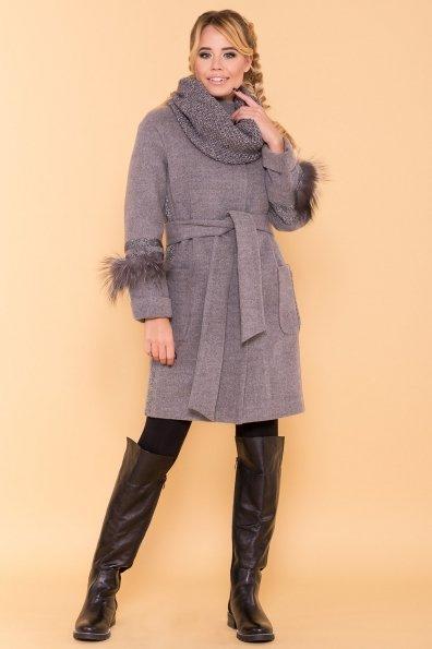 Пальто зима Приоритет 5656 Цвет: Серый 18