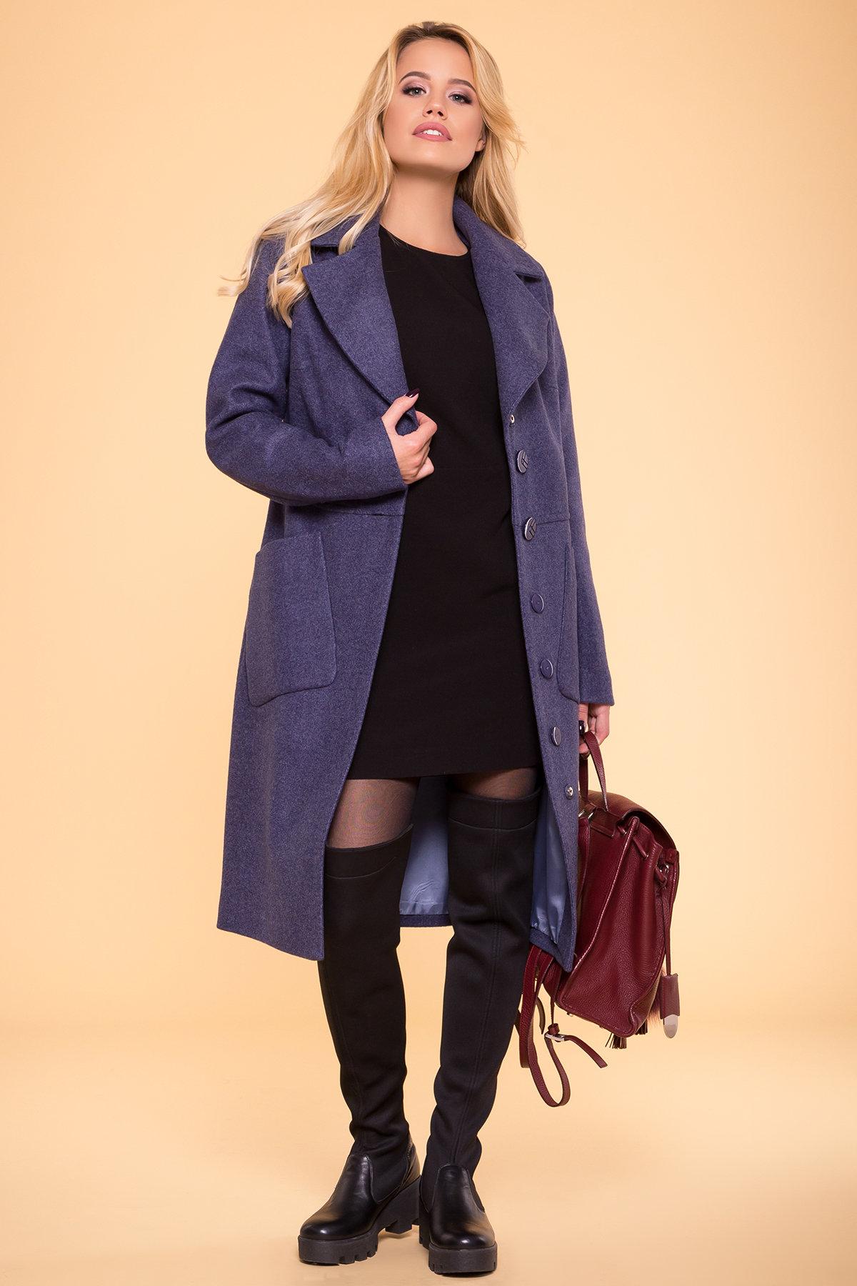Пальто на весну-осень Габриэлла 4459 АРТ. 37561 Цвет: Джинс - фото 3, интернет магазин tm-modus.ru