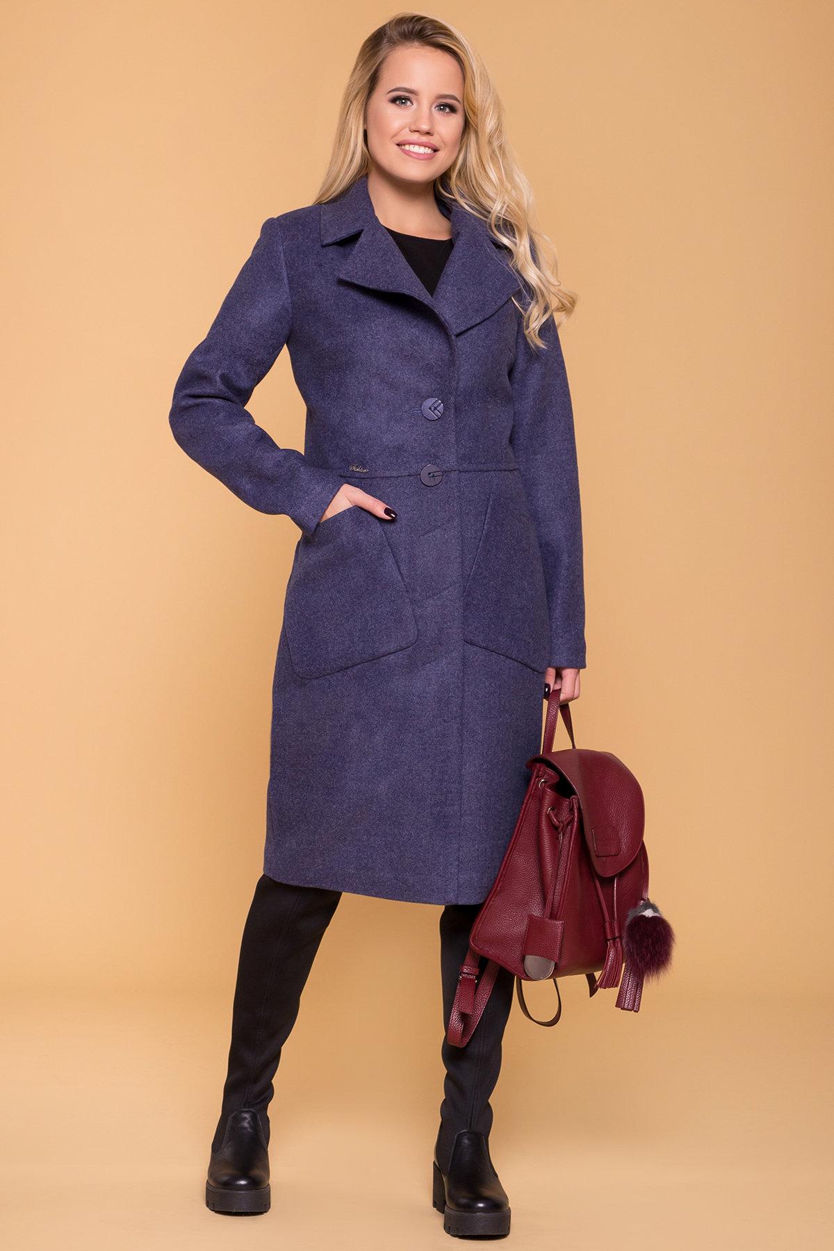 Пальто на весну-осень Габриэлла 4459 АРТ. 37561 Цвет: Джинс - фото 4, интернет магазин tm-modus.ru