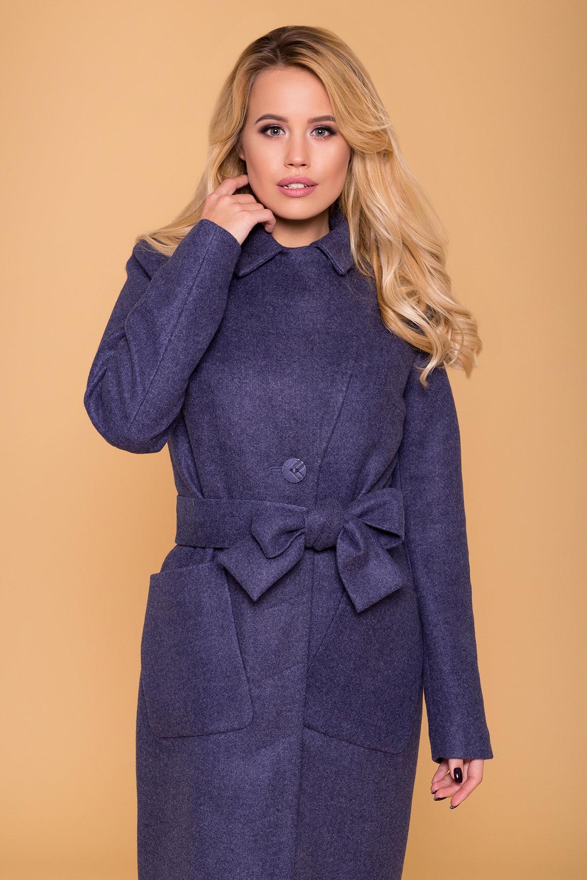 Пальто на весну-осень Габриэлла 4459 АРТ. 37561 Цвет: Джинс - фото 5, интернет магазин tm-modus.ru