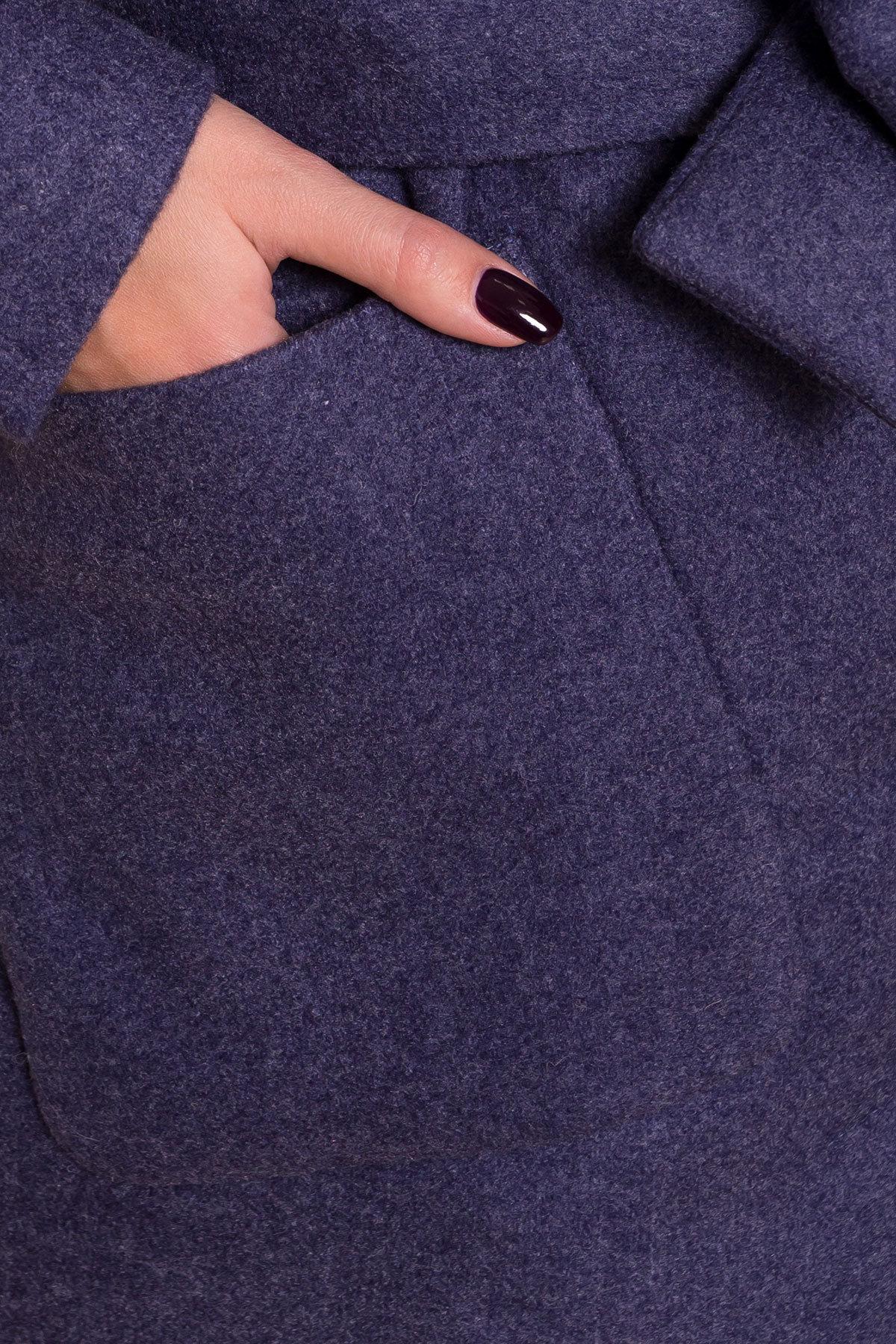Пальто на весну-осень Габриэлла 4459 АРТ. 37561 Цвет: Джинс - фото 6, интернет магазин tm-modus.ru