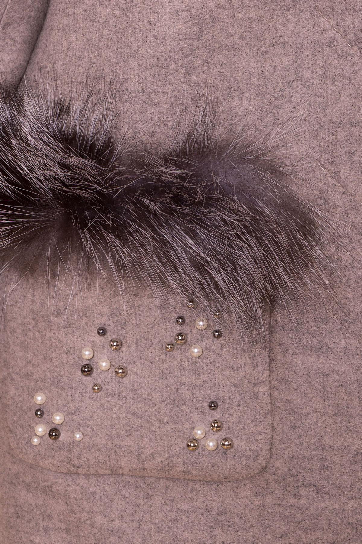 Пальто зима Ажен 5780 Цвет: Бежевый 31