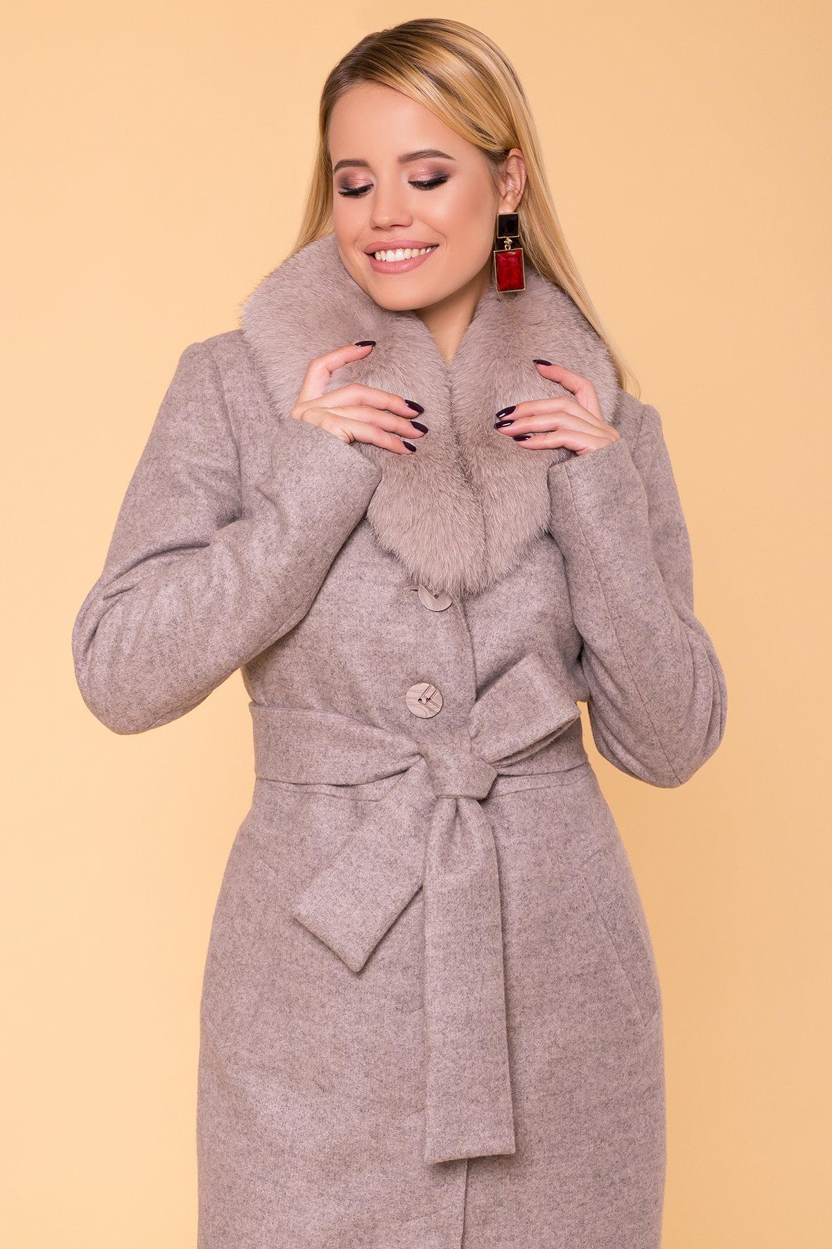 Пальто зима Габриэлла макси 5890 АРТ. 39456 Цвет: Бежевый 31 - фото 5, интернет магазин tm-modus.ru