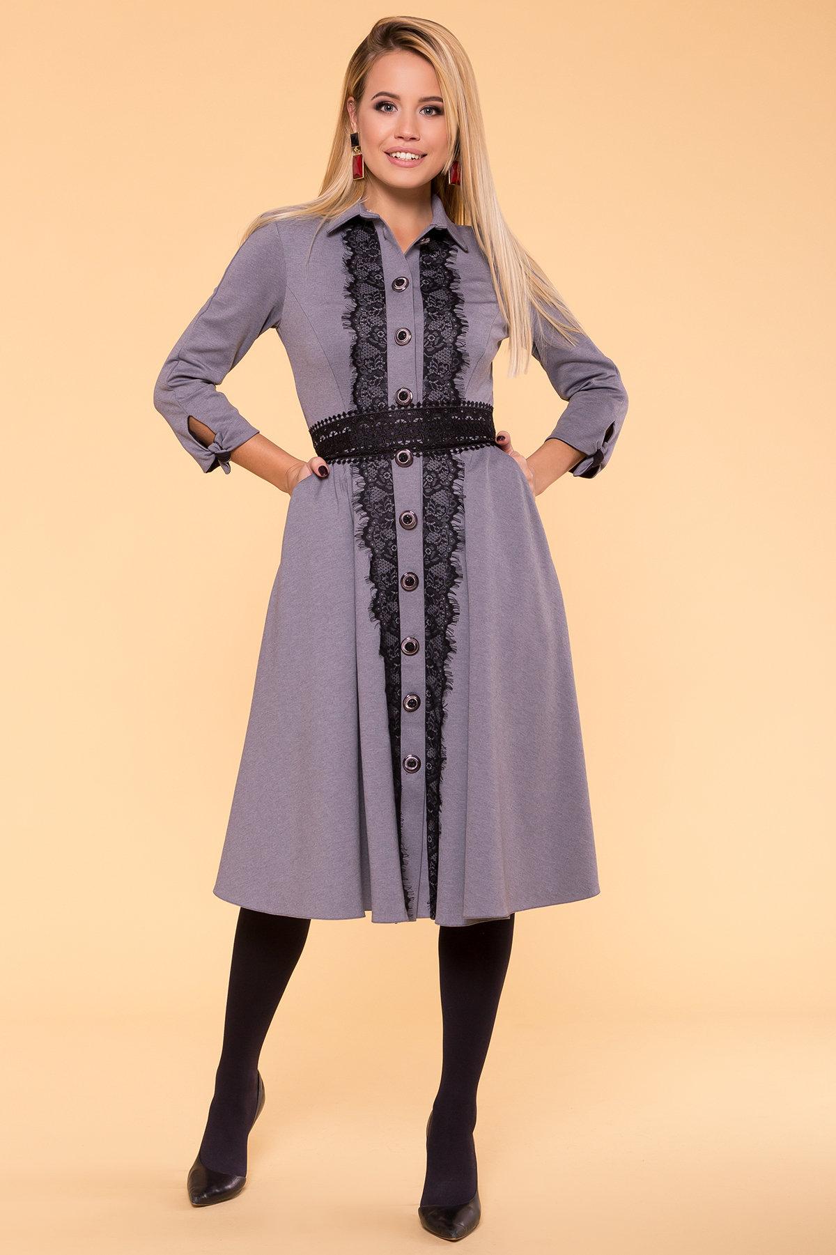 Платье Арго 5645 Цвет: Светлый-серый