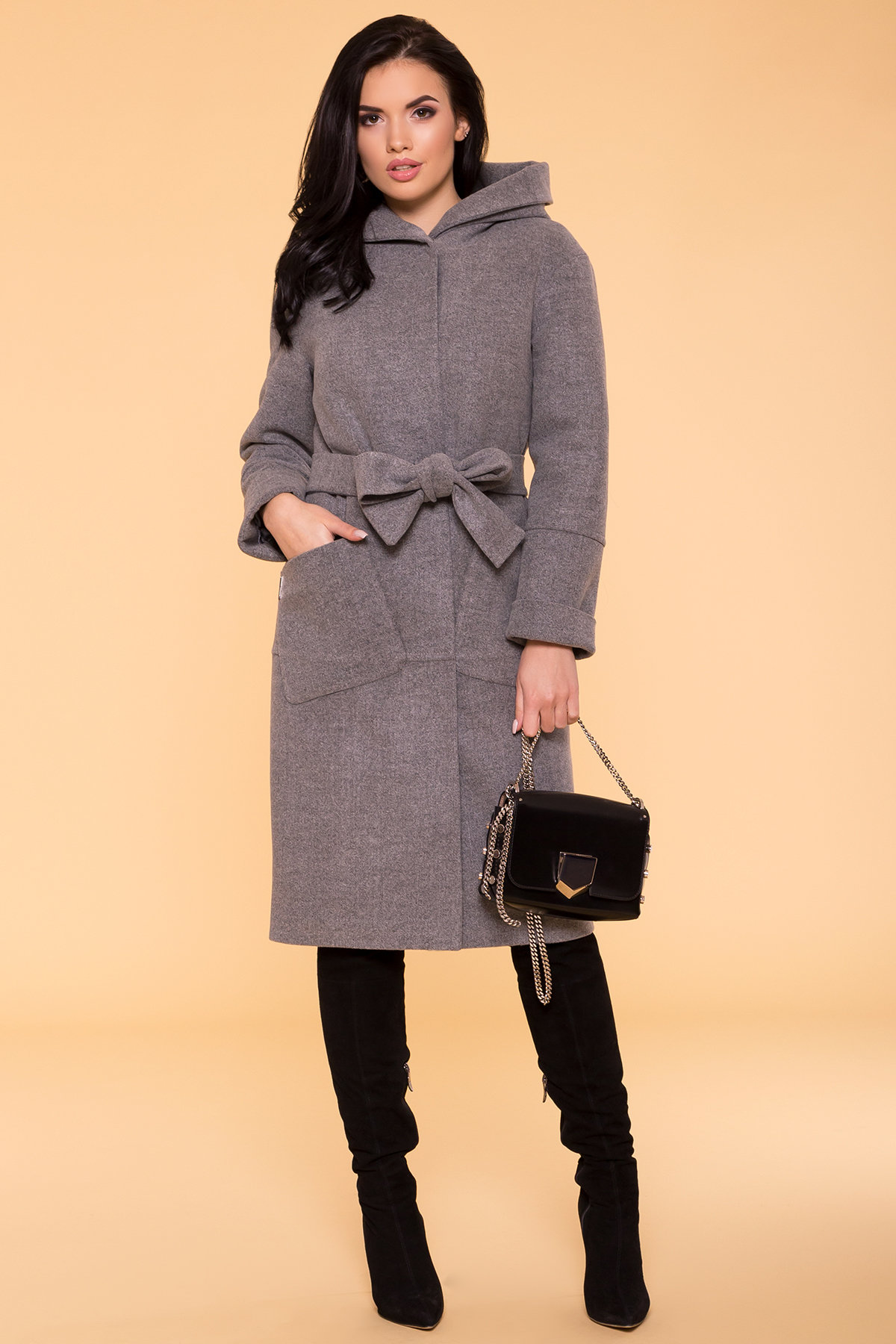 Пальто зима Анита 4122 Цвет: Серый 18