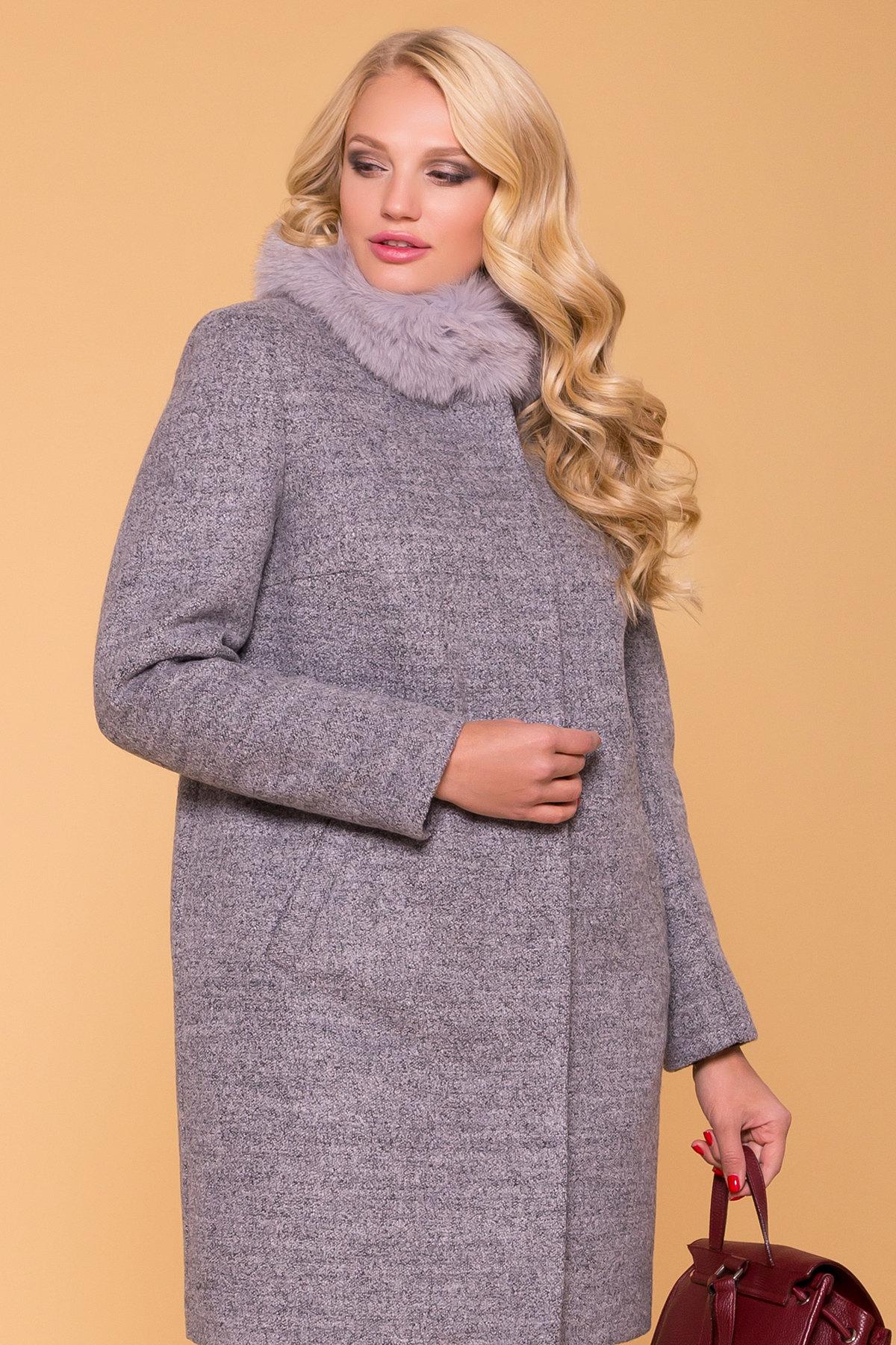 Пальто Donna зима Фортуна 3526 Цвет: Серый 48