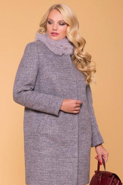 Зимнее утепленное пальто Donna Фортуна 3526 Цвет: Серый 48