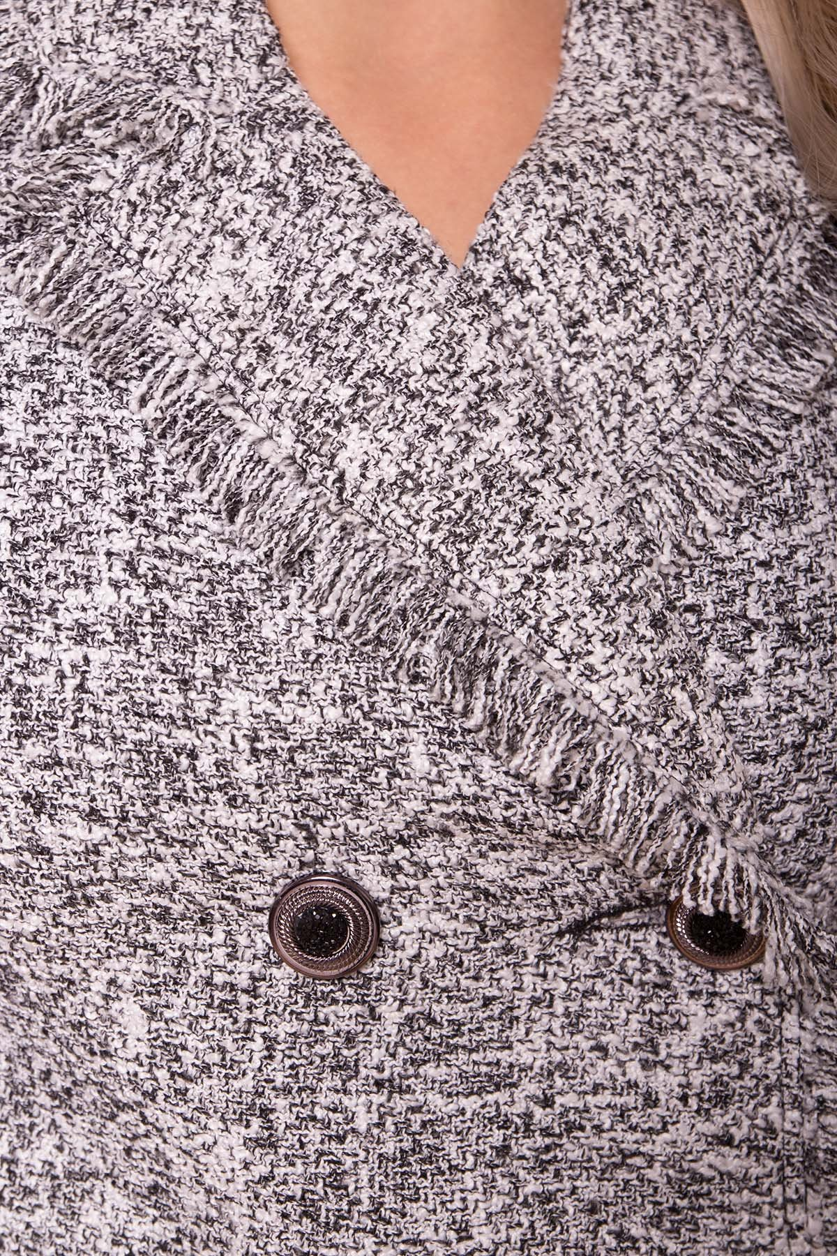 Платье-жакет Коко 5859 АРТ. 40581 Цвет: Серый Темный меланж - фото 4, интернет магазин tm-modus.ru