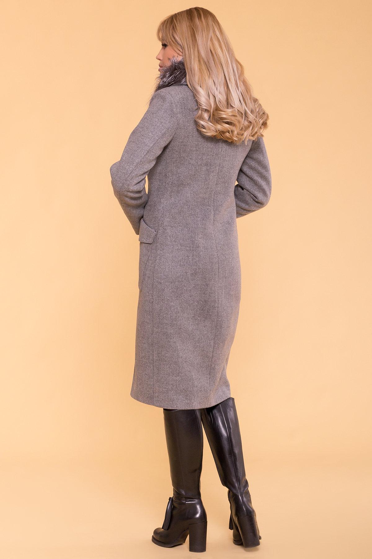 Зимнее пальто с мехом Стейси 5647 АРТ. 37855 Цвет: Серый 18 - фото 3, интернет магазин tm-modus.ru