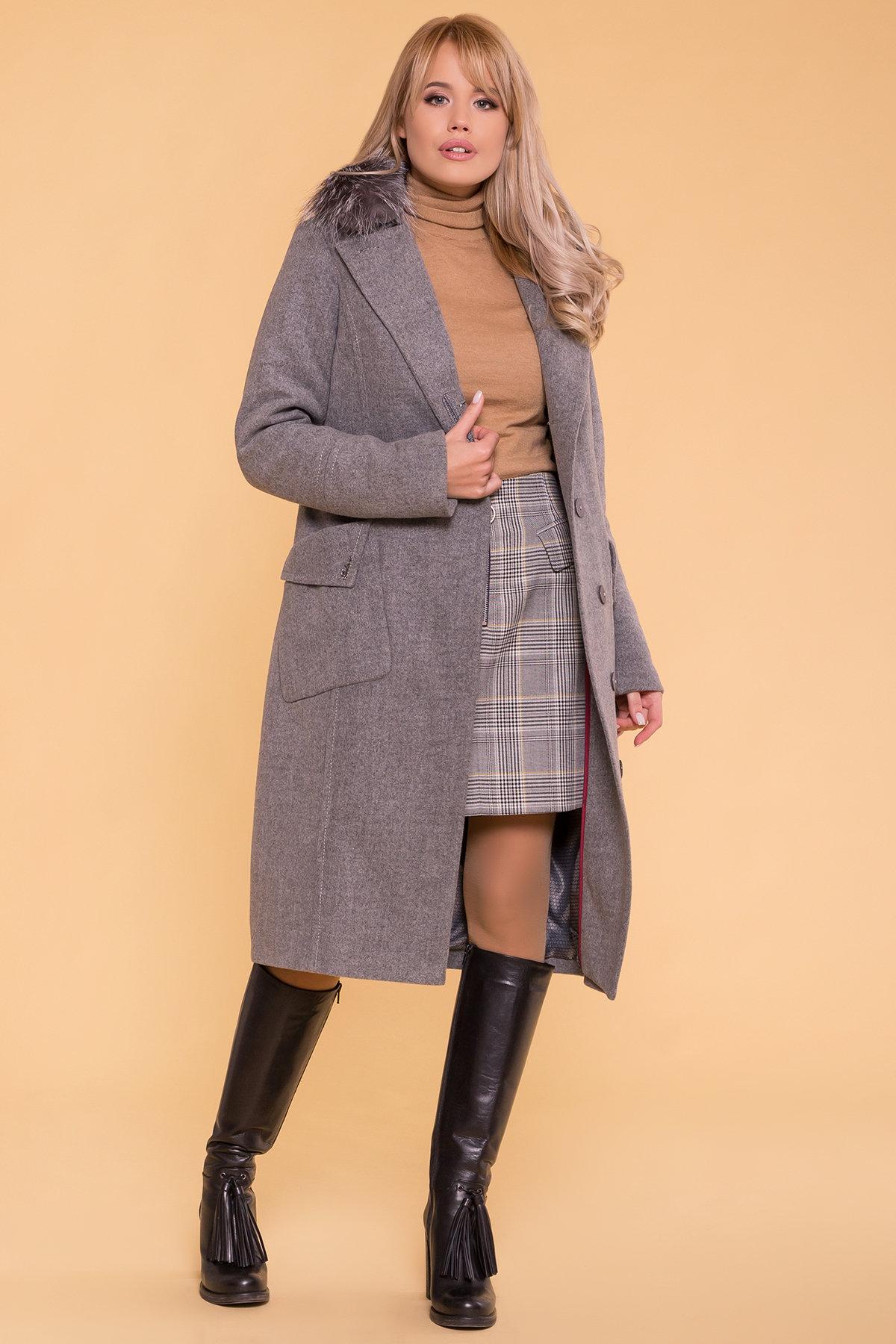 Зимнее пальто с мехом Стейси 5647 АРТ. 37855 Цвет: Серый 18 - фото 5, интернет магазин tm-modus.ru